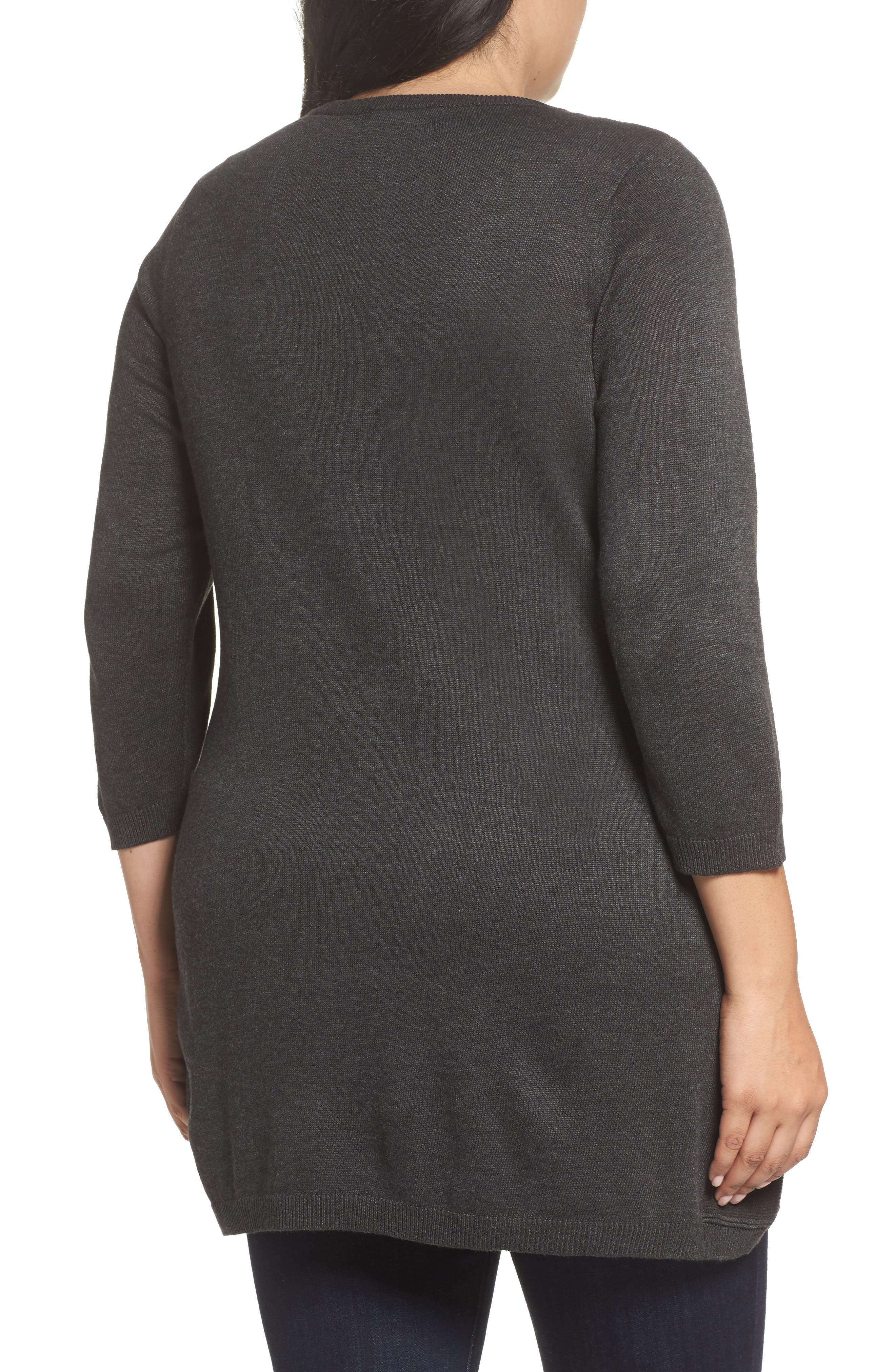Pocket Tunic Sweater,                             Alternate thumbnail 2, color,                             Grey