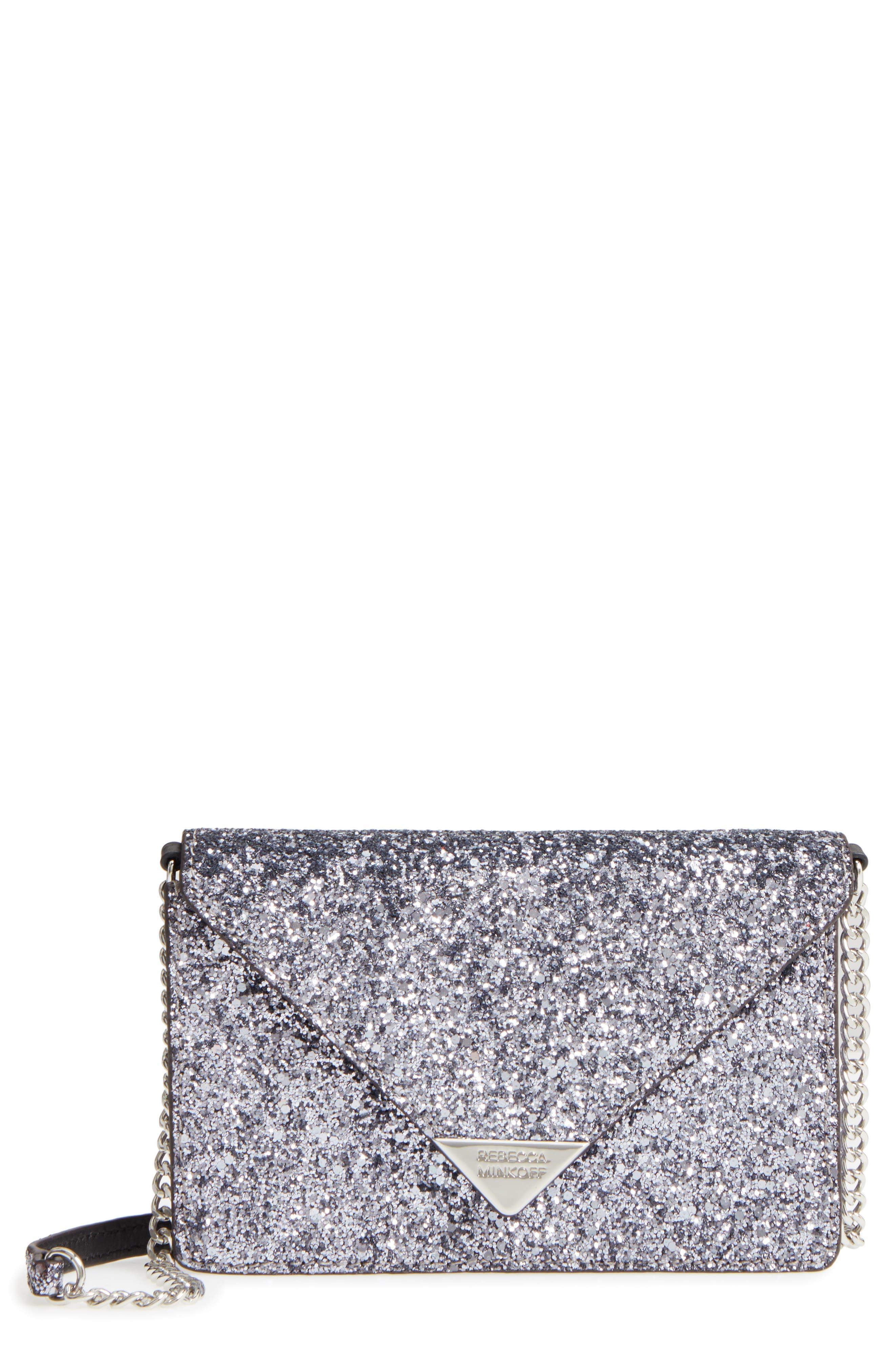 Molly Crossbody Bag,                         Main,                         color, Silver