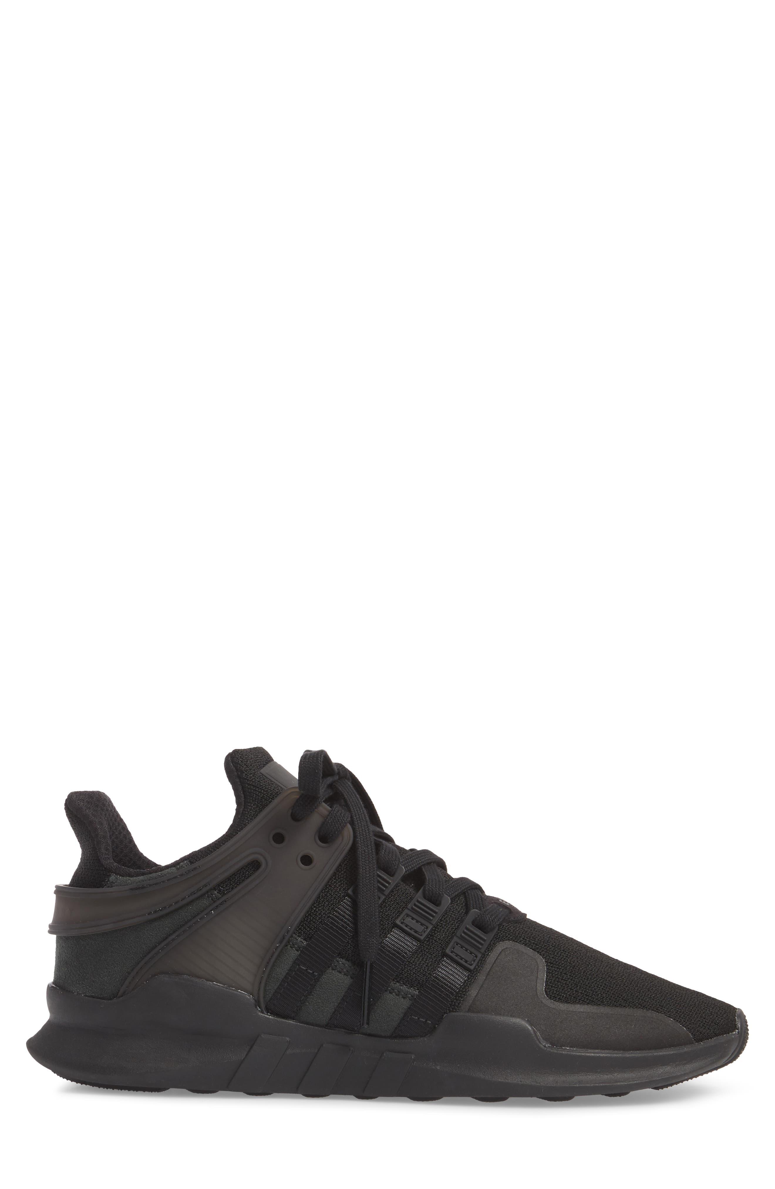 EQT Support Adv Sneaker,                             Alternate thumbnail 3, color,                             Core Black / Black / White