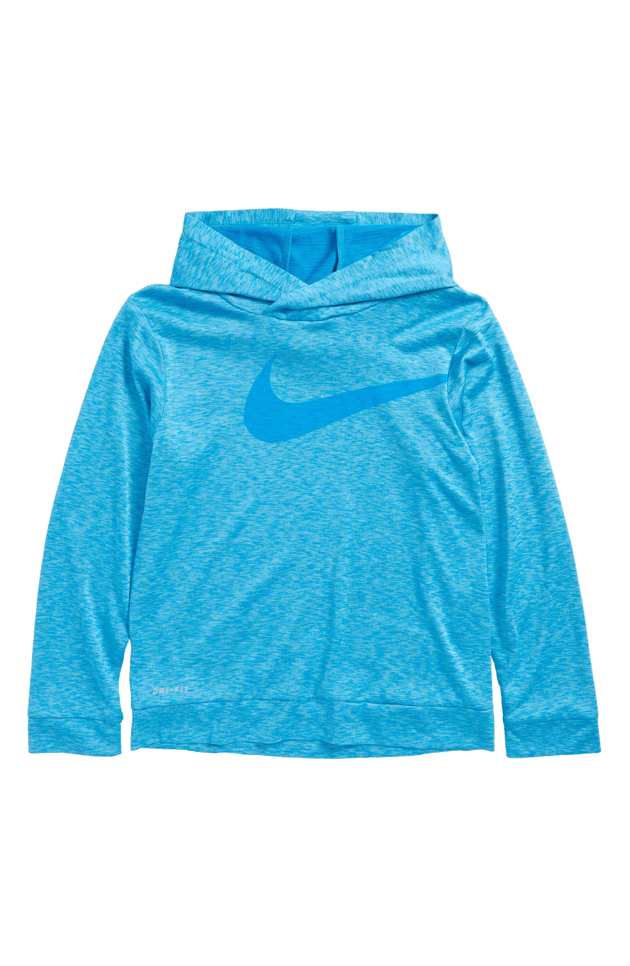 Swoosh Dri-FIT Hoodie,                             Main thumbnail 1, color,                             Light Photo Blue Heather