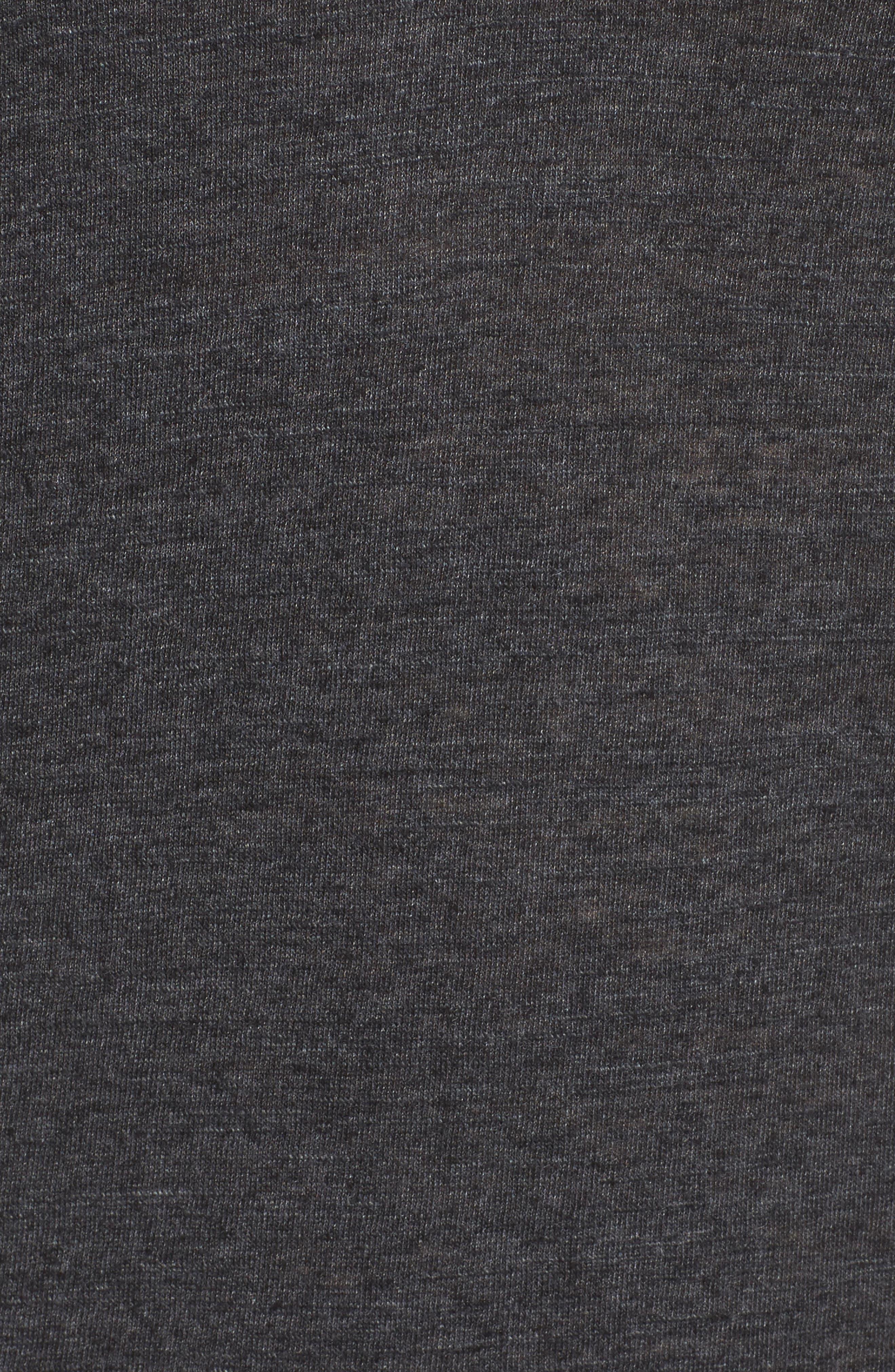Tony Cutout Tee,                             Alternate thumbnail 6, color,                             Grey Dark Charcoal Heather