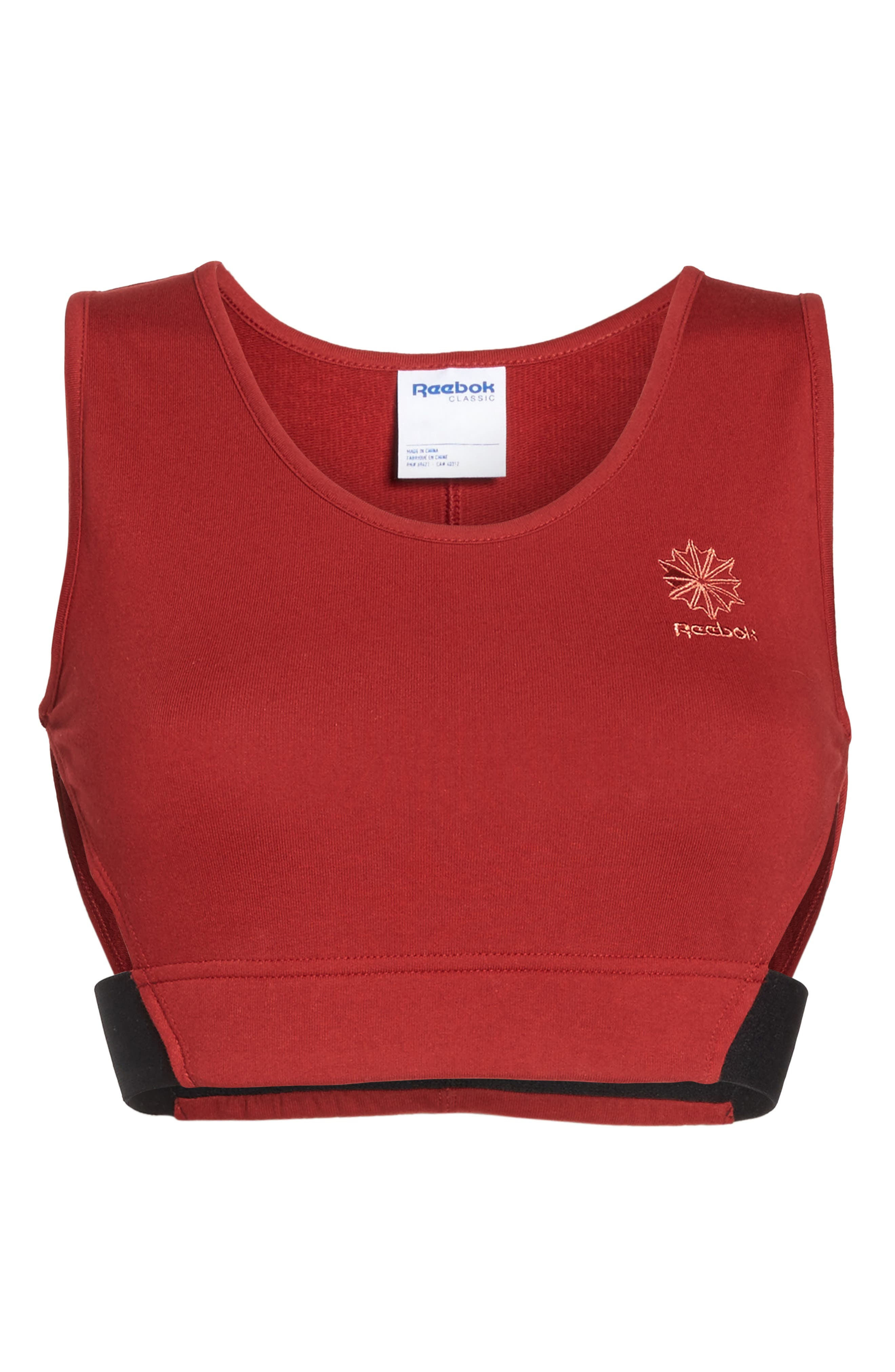 Alternate Image 7  - Reebok Elevated French Terry Sports Bra