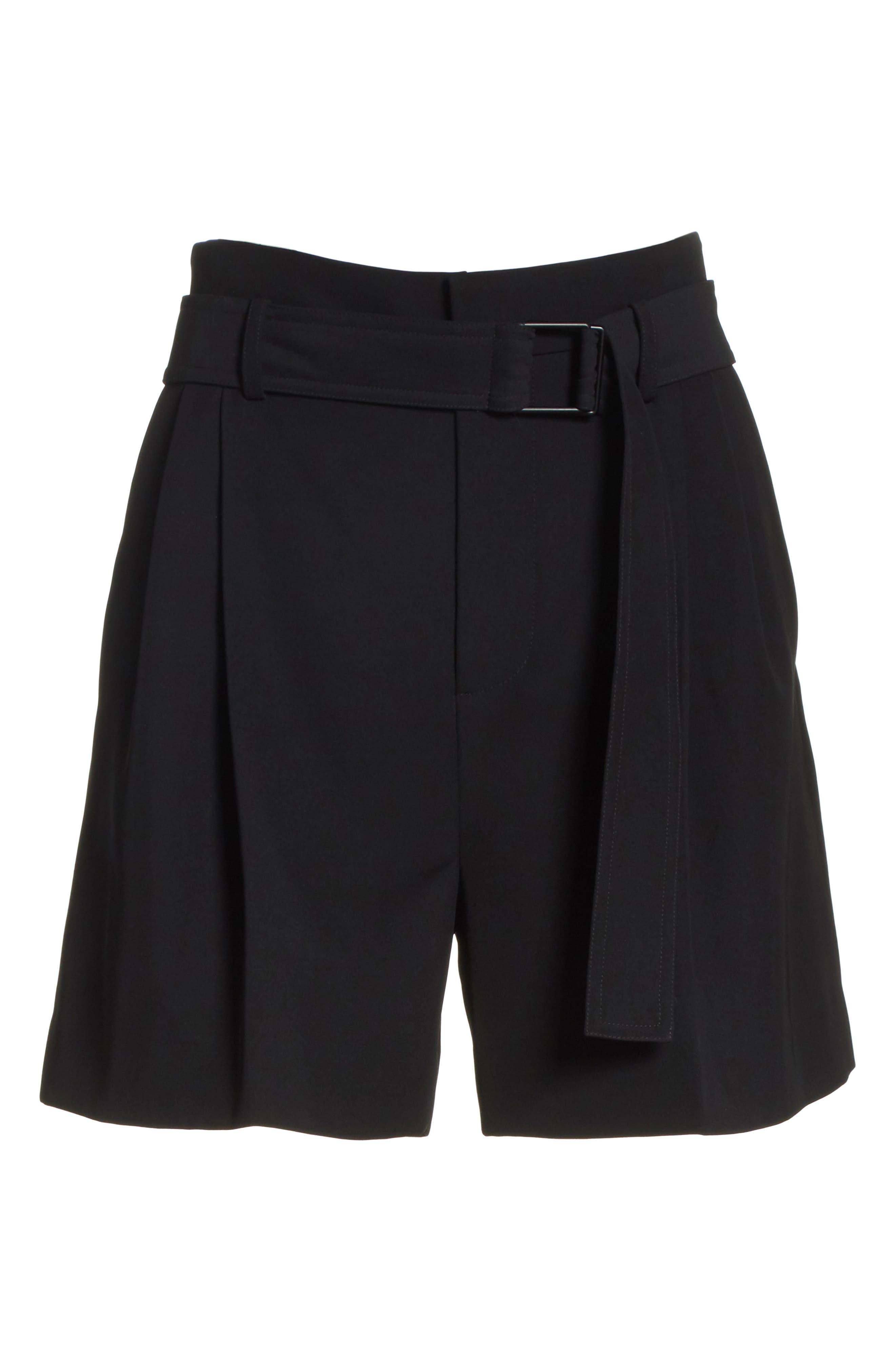 Belted Shorts,                             Alternate thumbnail 7, color,                             Black