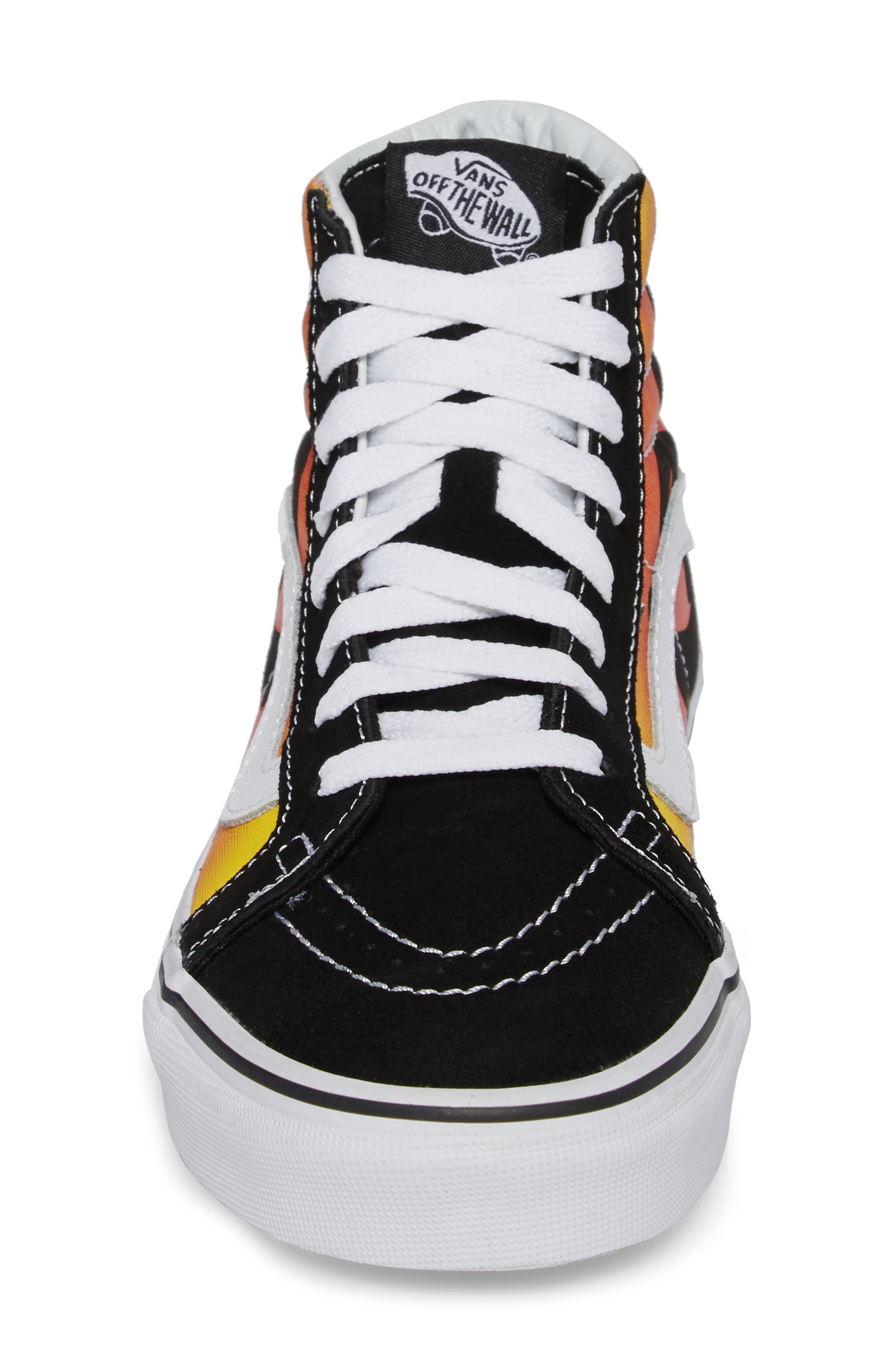 'Sk8-Hi Slim' Sneaker,                             Alternate thumbnail 4, color,                             Black/ Black/ True White