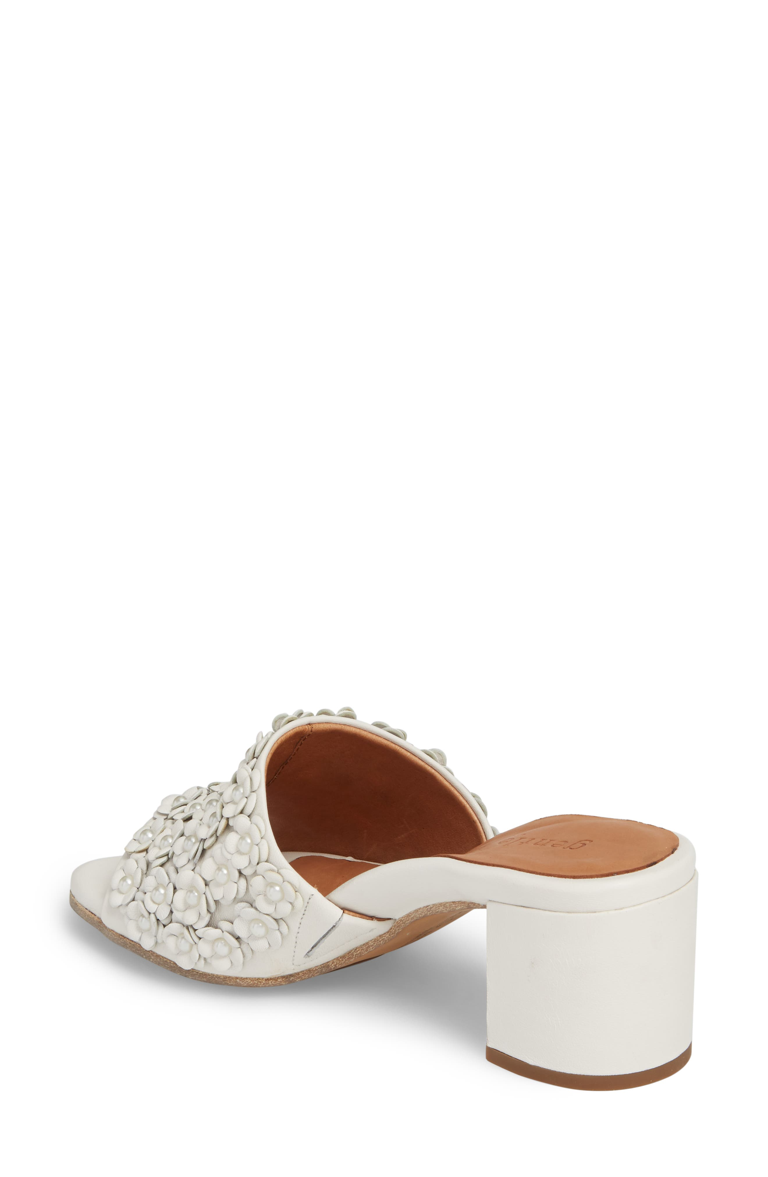 by Kenneth Cole Chantel Sandal,                             Alternate thumbnail 2, color,                             White Flowers Leather