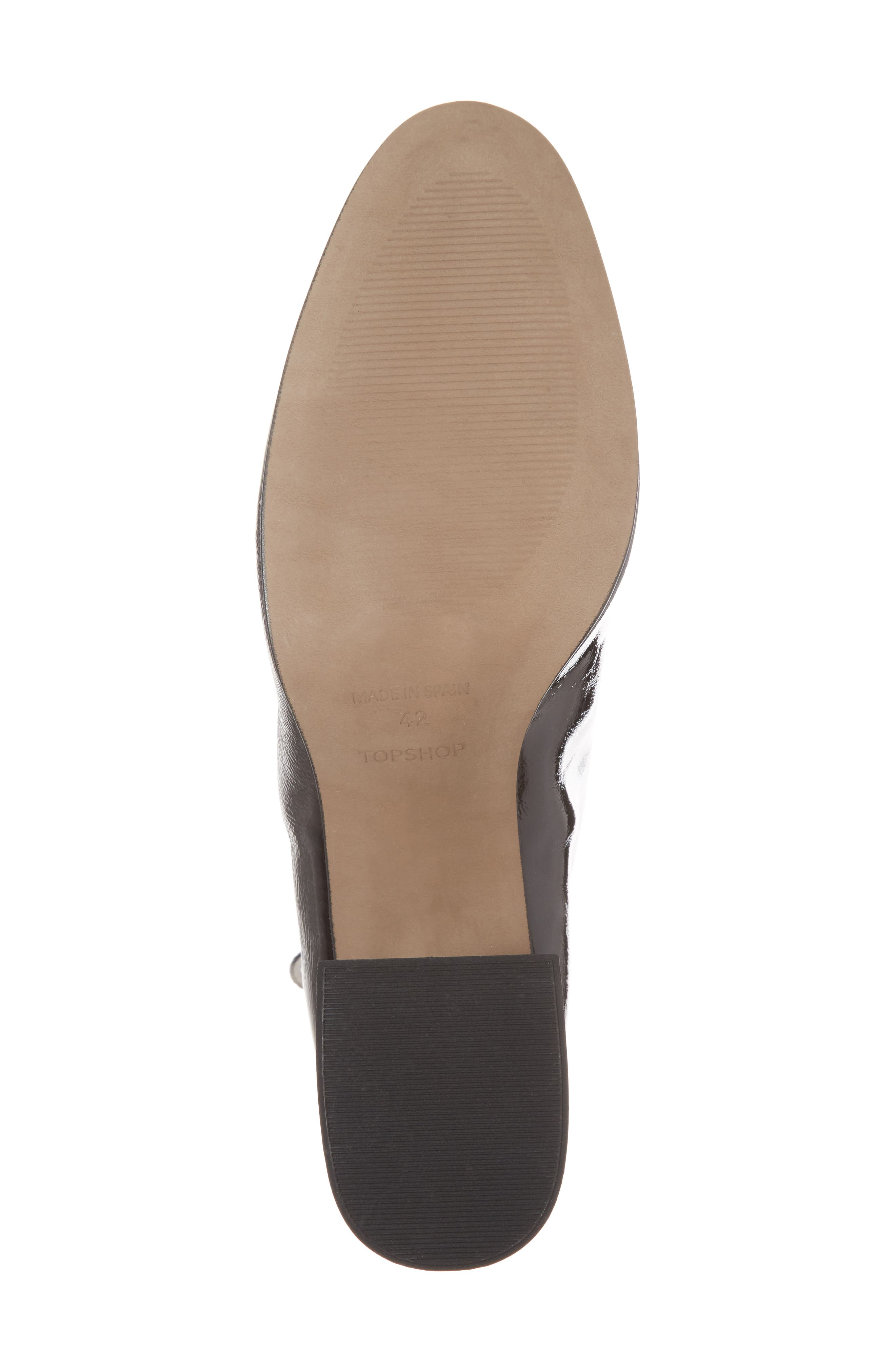Mighty Flared Heel Bootie,                             Alternate thumbnail 6, color,                             Black