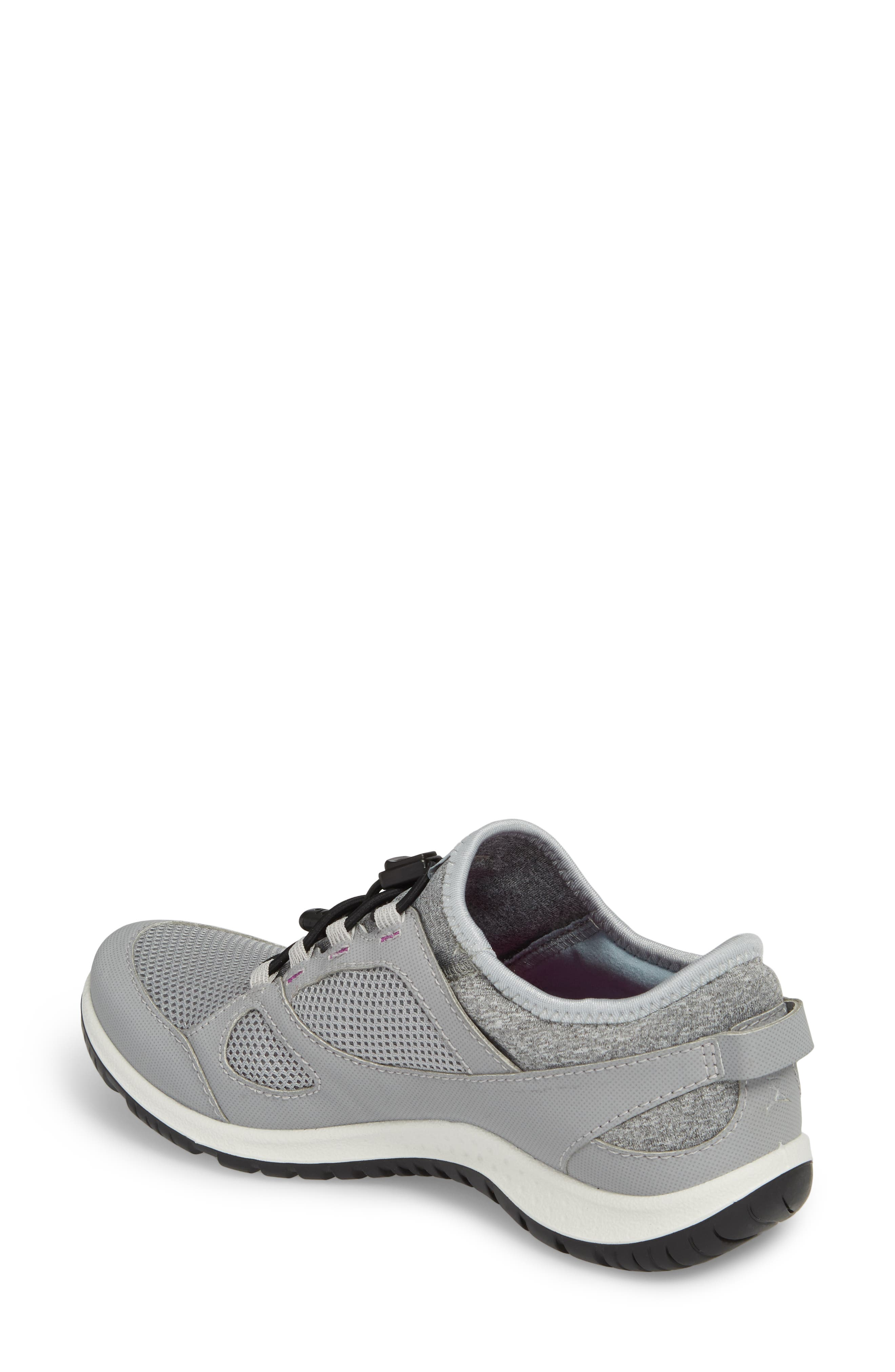 Aspina Toggle Hiking Sneaker,                             Alternate thumbnail 2, color,                             Silver Grey Leather