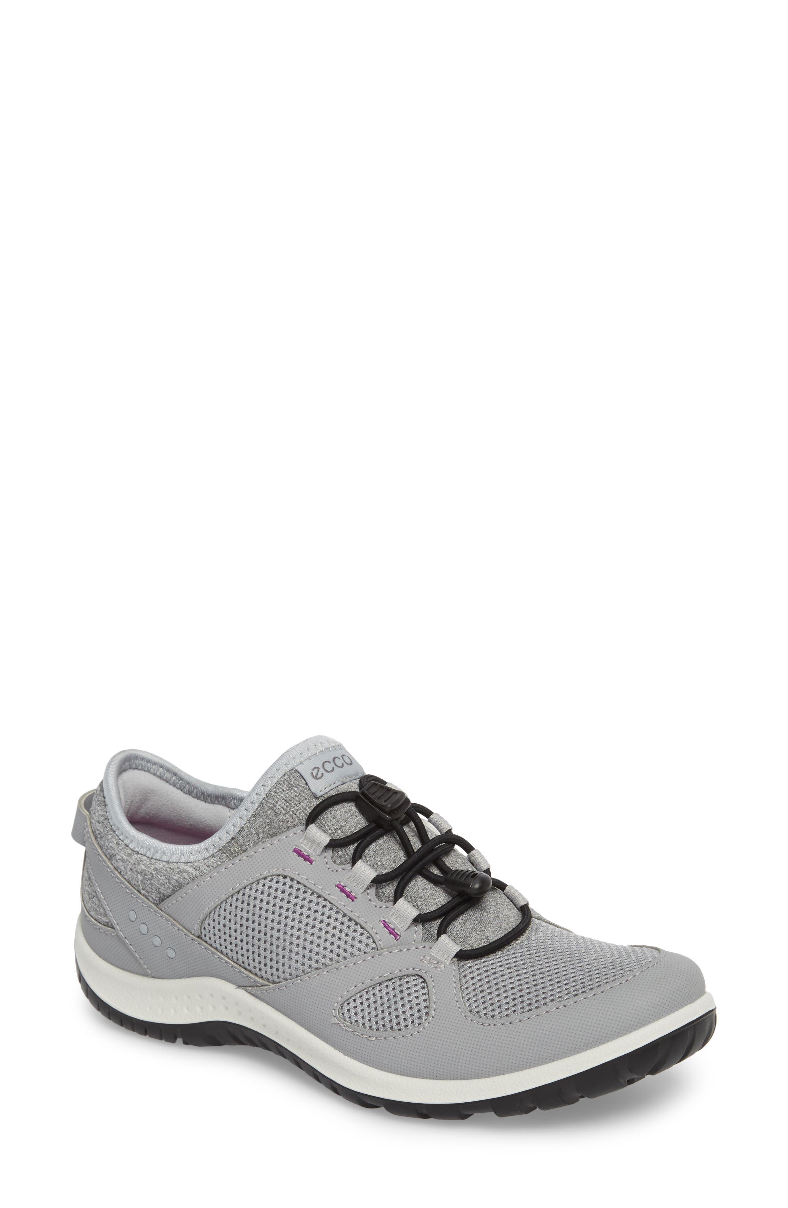 Aspina Toggle Hiking Sneaker,                             Main thumbnail 1, color,                             Silver Grey Leather