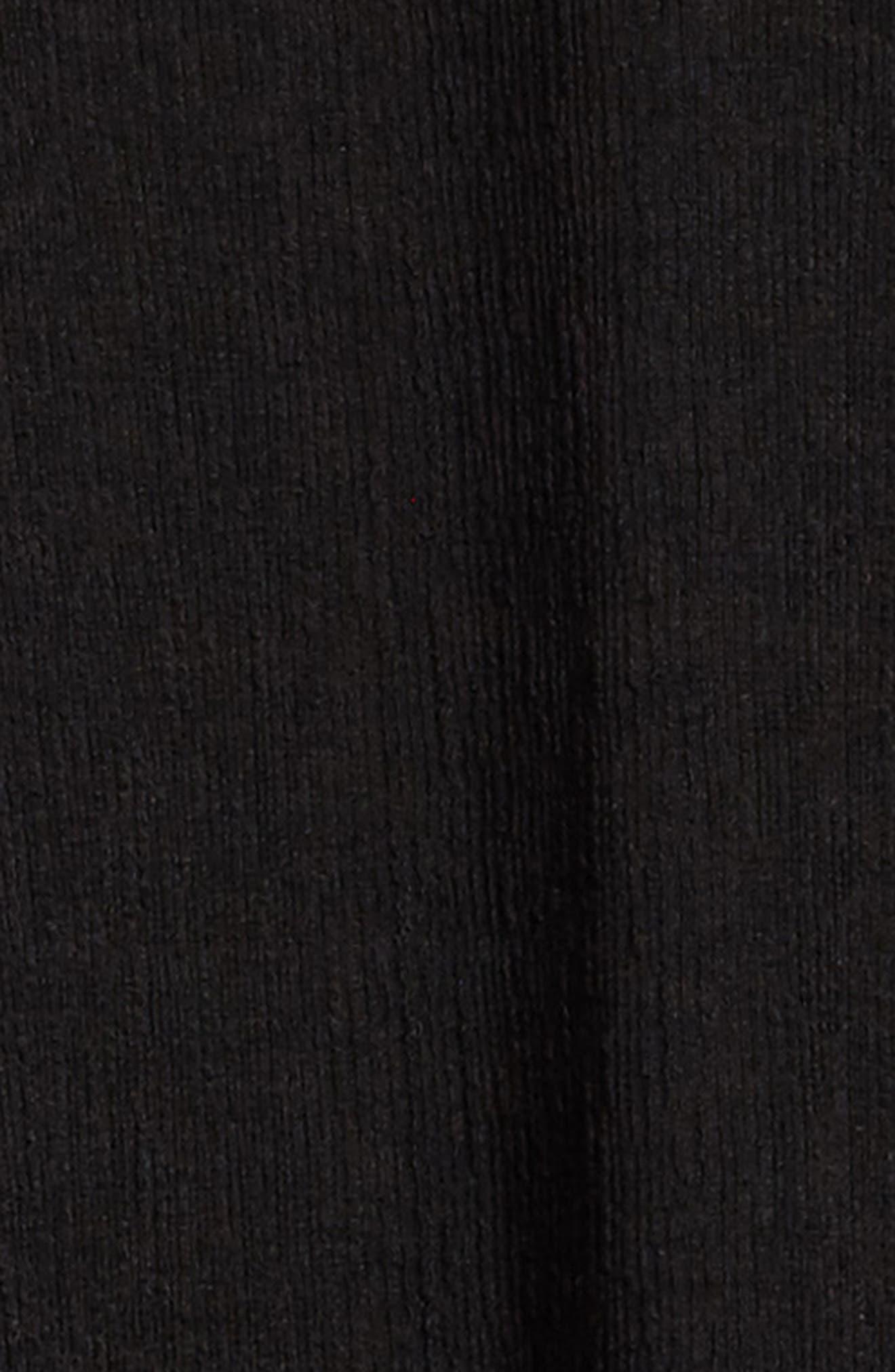 Bell Sleeve A-Line Dress,                             Alternate thumbnail 3, color,                             Black