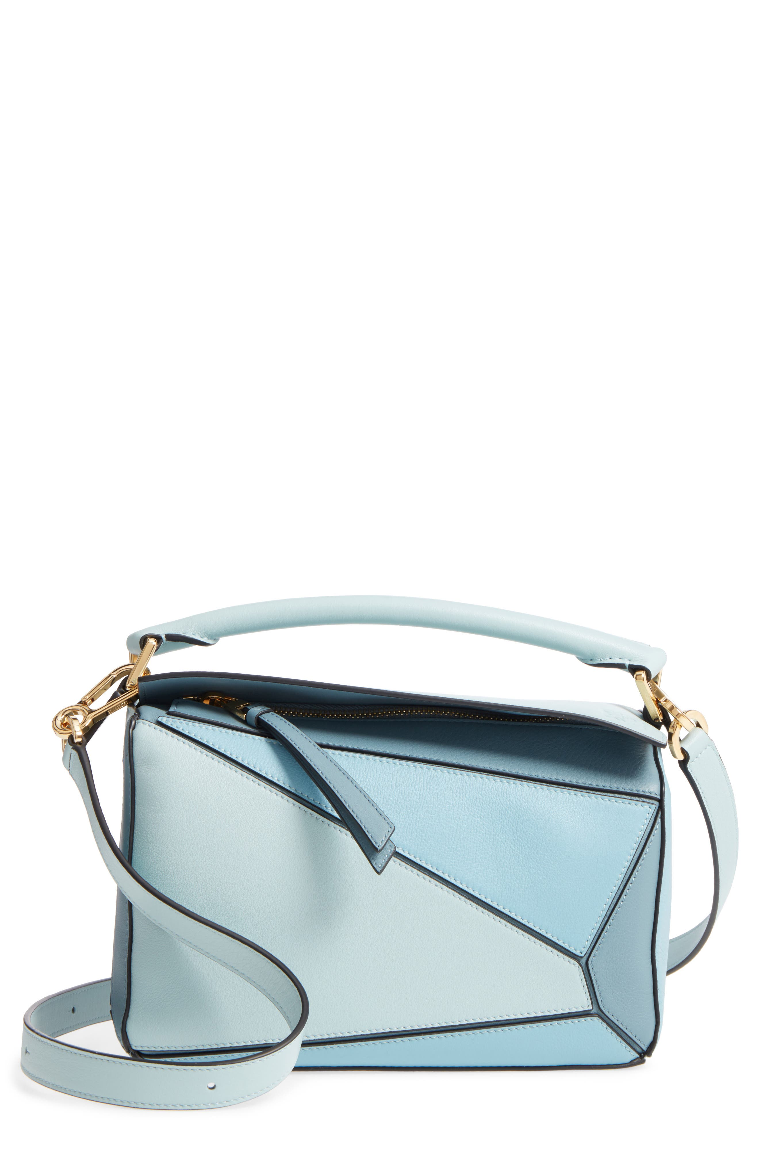 Main Image - Loewe Small Puzzle Tricolor Leather Bag