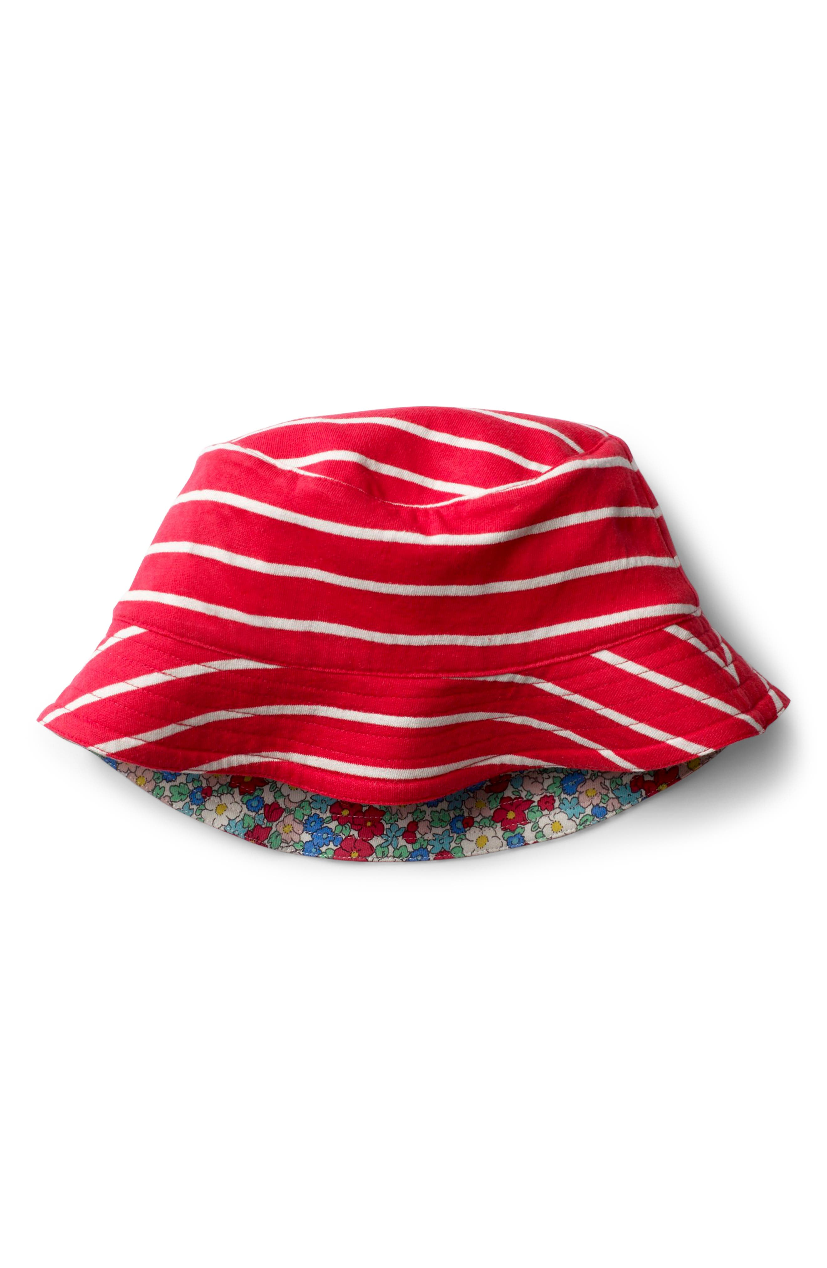 Jersey Reversible Sun Hat,                             Alternate thumbnail 2, color,                             Strawberry Split Pink Floral