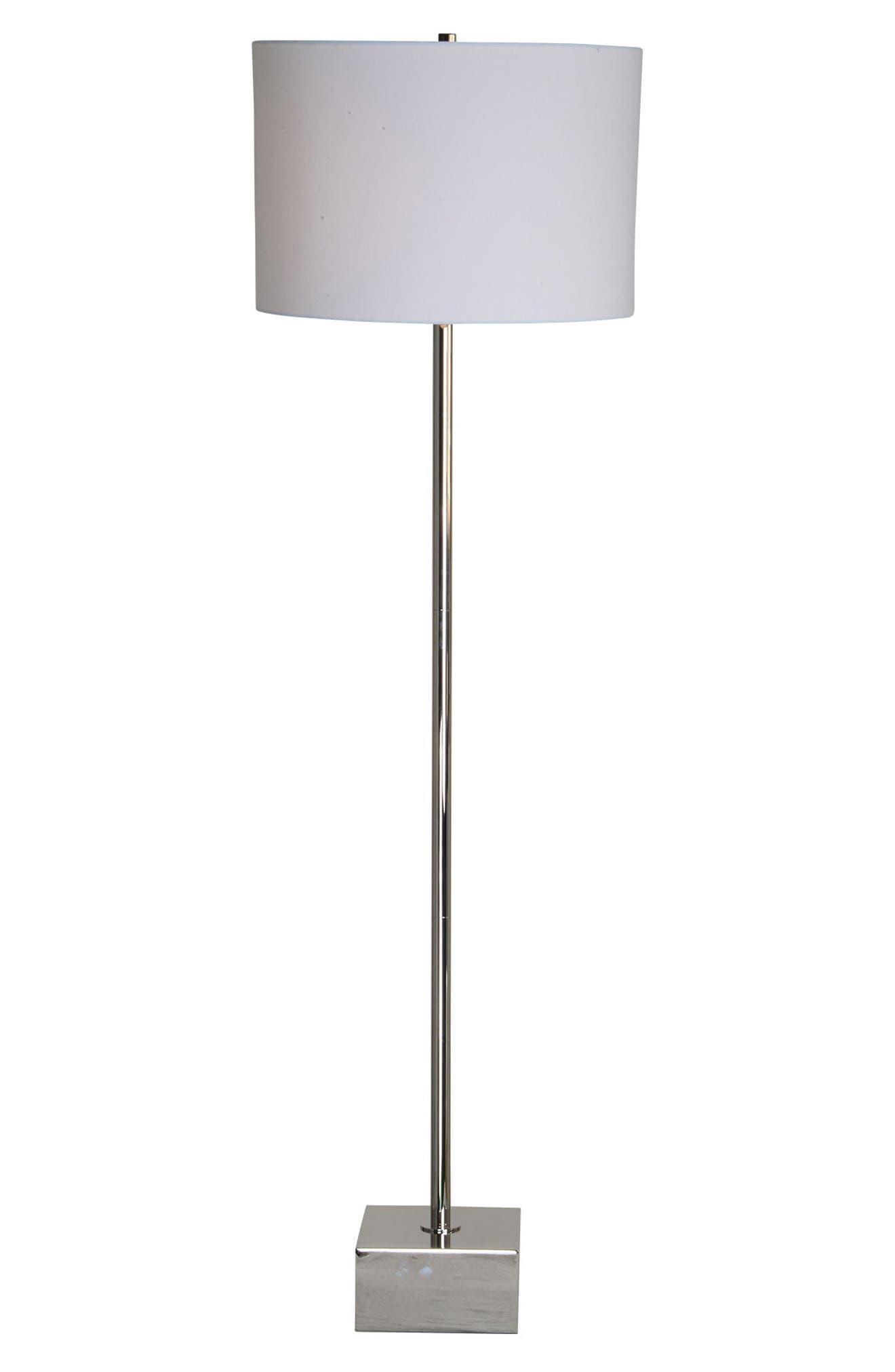 Thalia Chrome Floor Lamp,                         Main,                         color, Chrome
