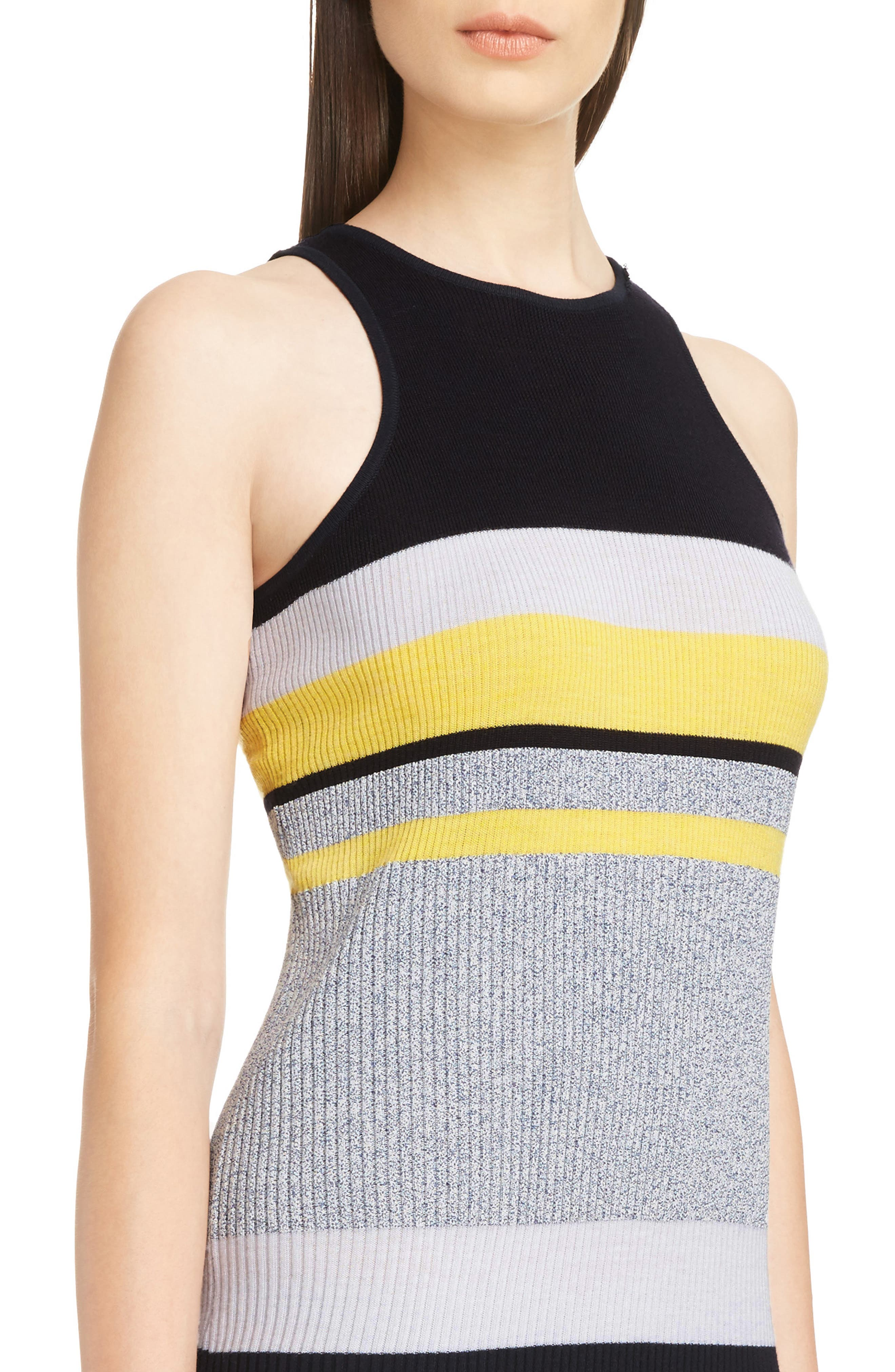 Alternate Image 4  - Victoria, Victoria Beckham Stripe Knit Dress