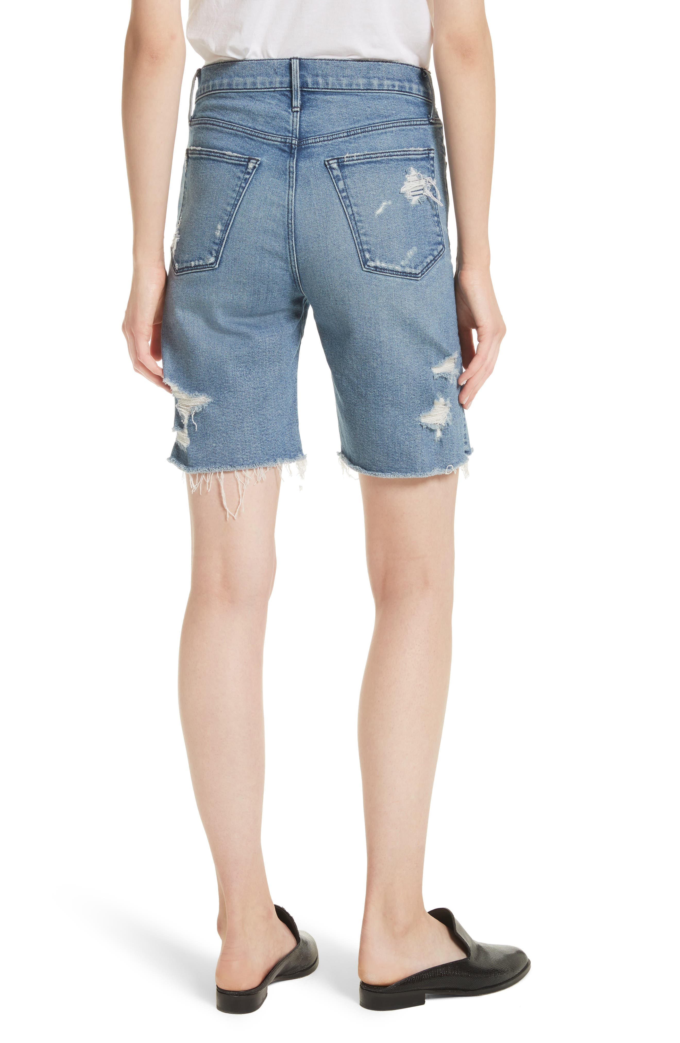 W3 Ryder Ripped Denim Shorts,                             Alternate thumbnail 2, color,                             Sutra