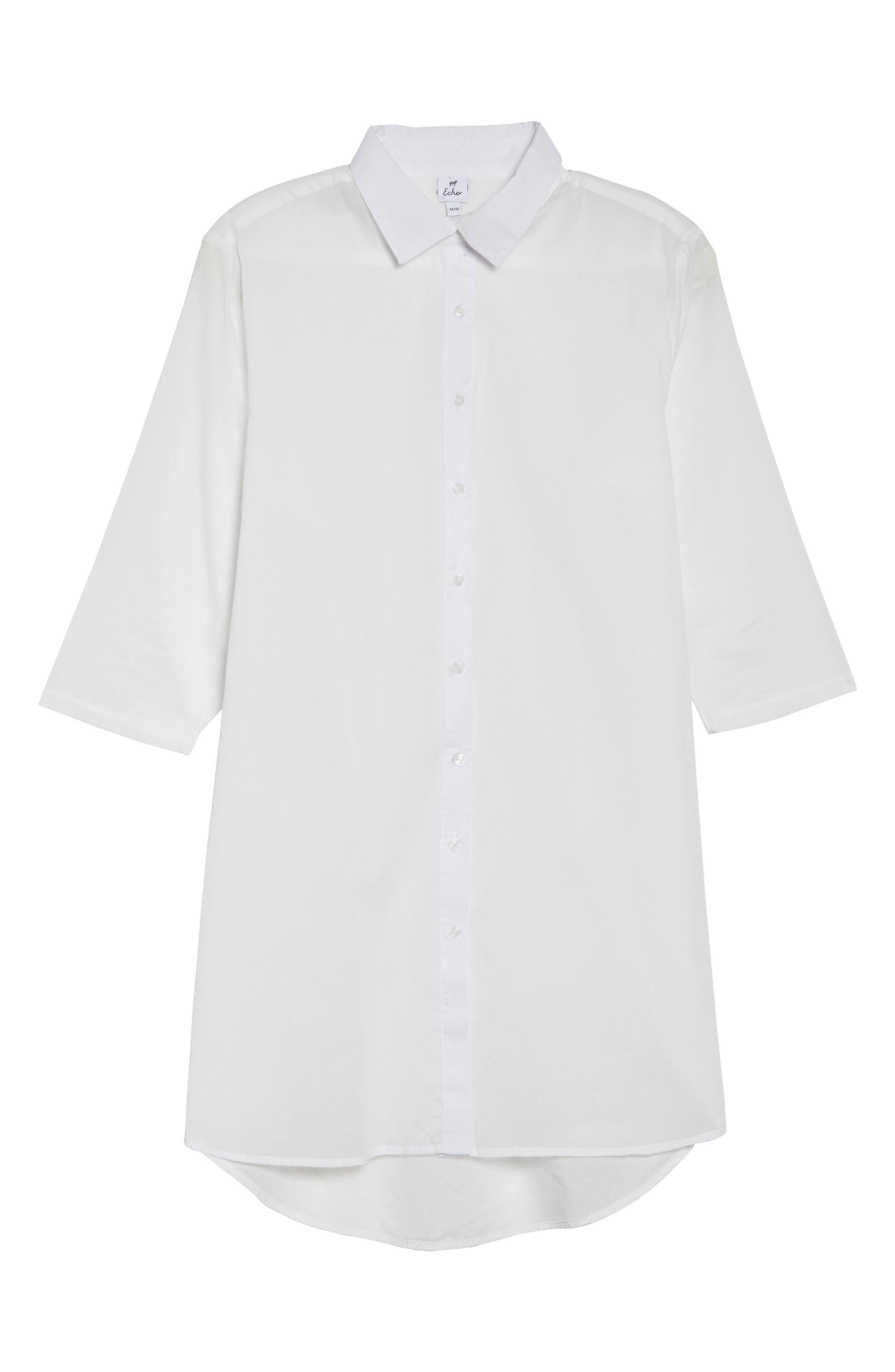 Solid Cover-Up Dress,                             Alternate thumbnail 5, color,                             White