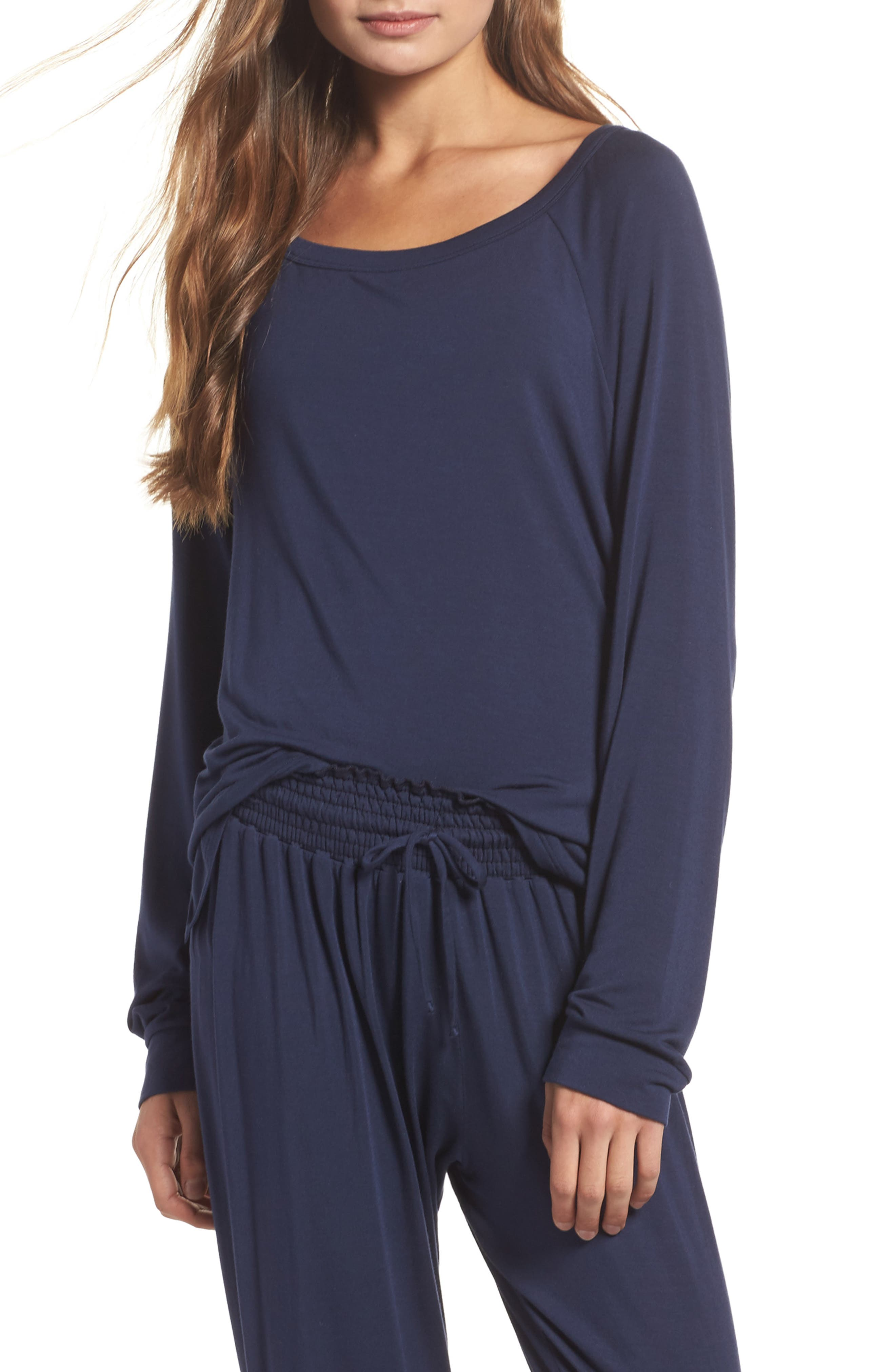 Amber Long Sleeve Top,                         Main,                         color, Twilight