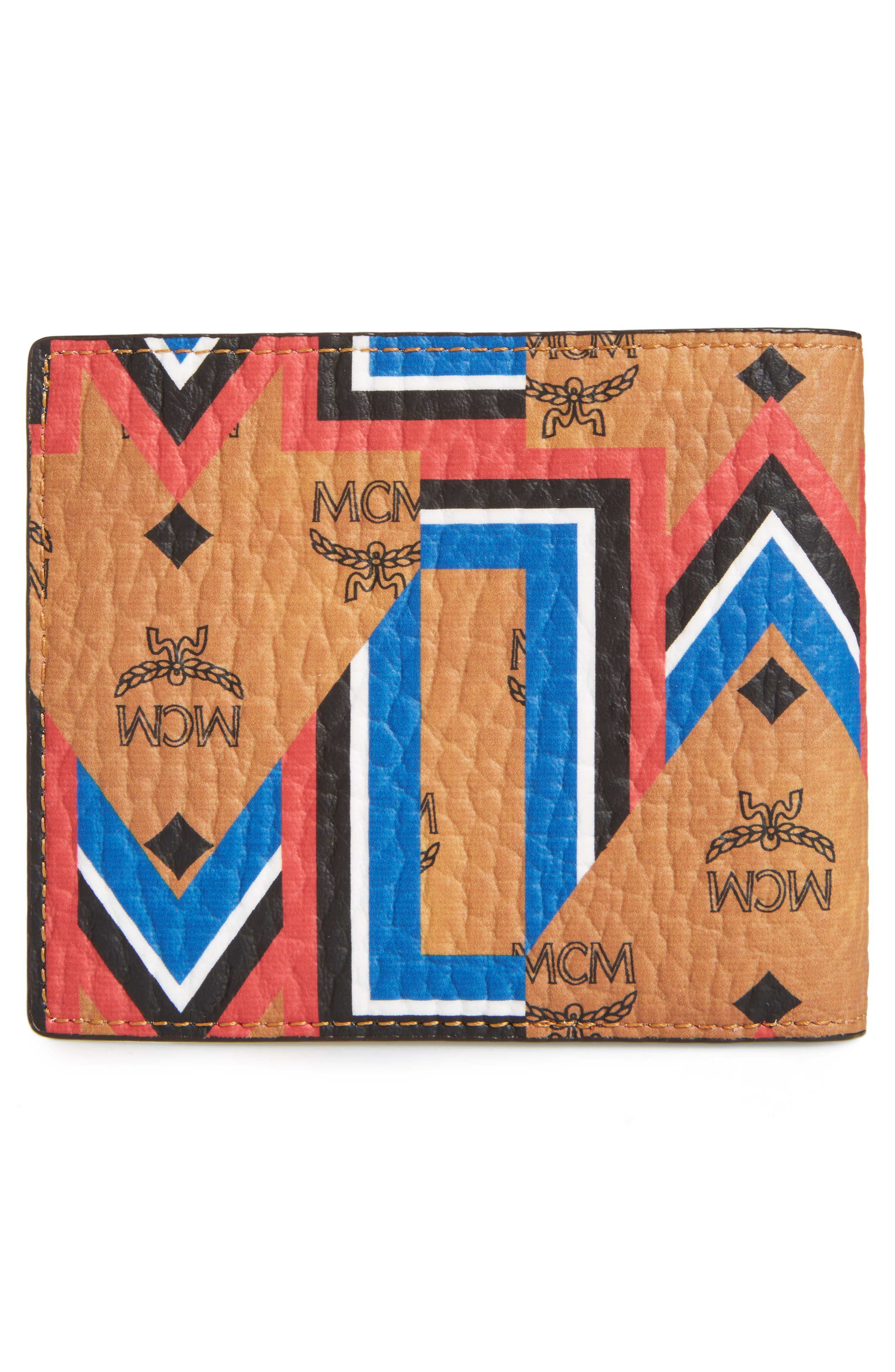 Alternate Image 3  - MCM Gunta Visetos Faux Leather Wallet