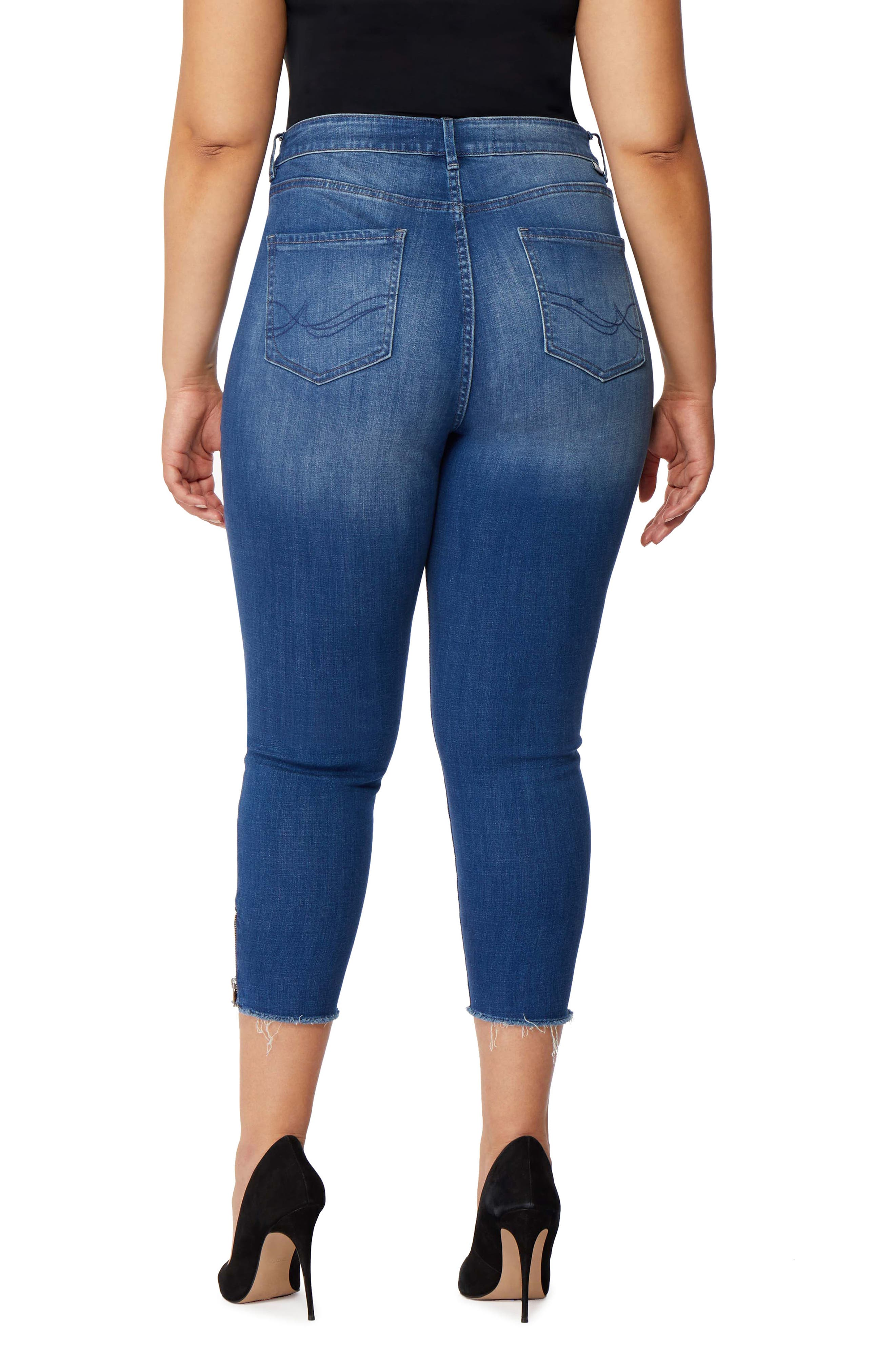Icon Crop High Waist Skinny Jeans,                             Alternate thumbnail 2, color,                             Laurel