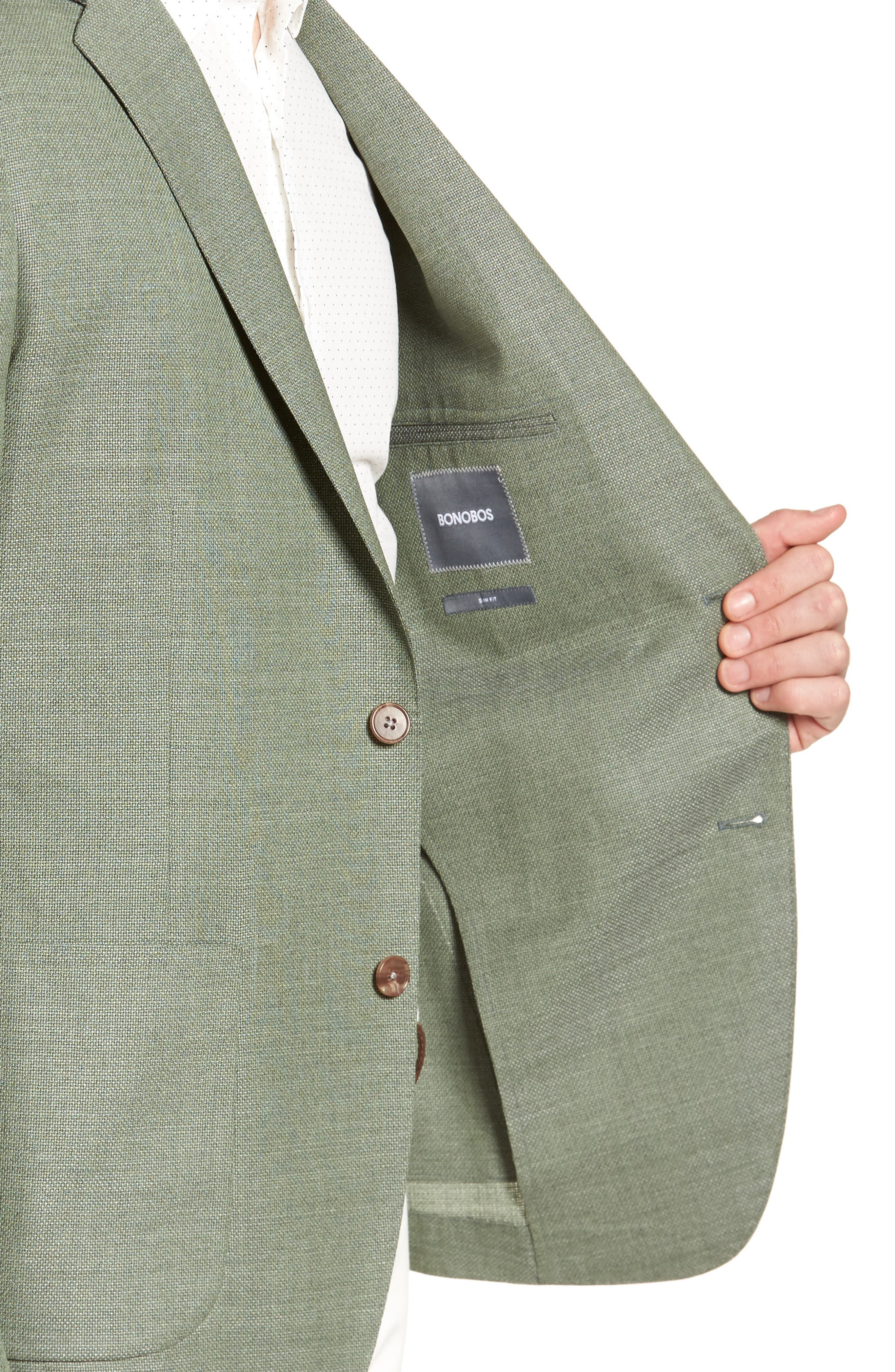 Alternate Image 4  - Bonobos Trim Fit Wool Unconstructed Blazer