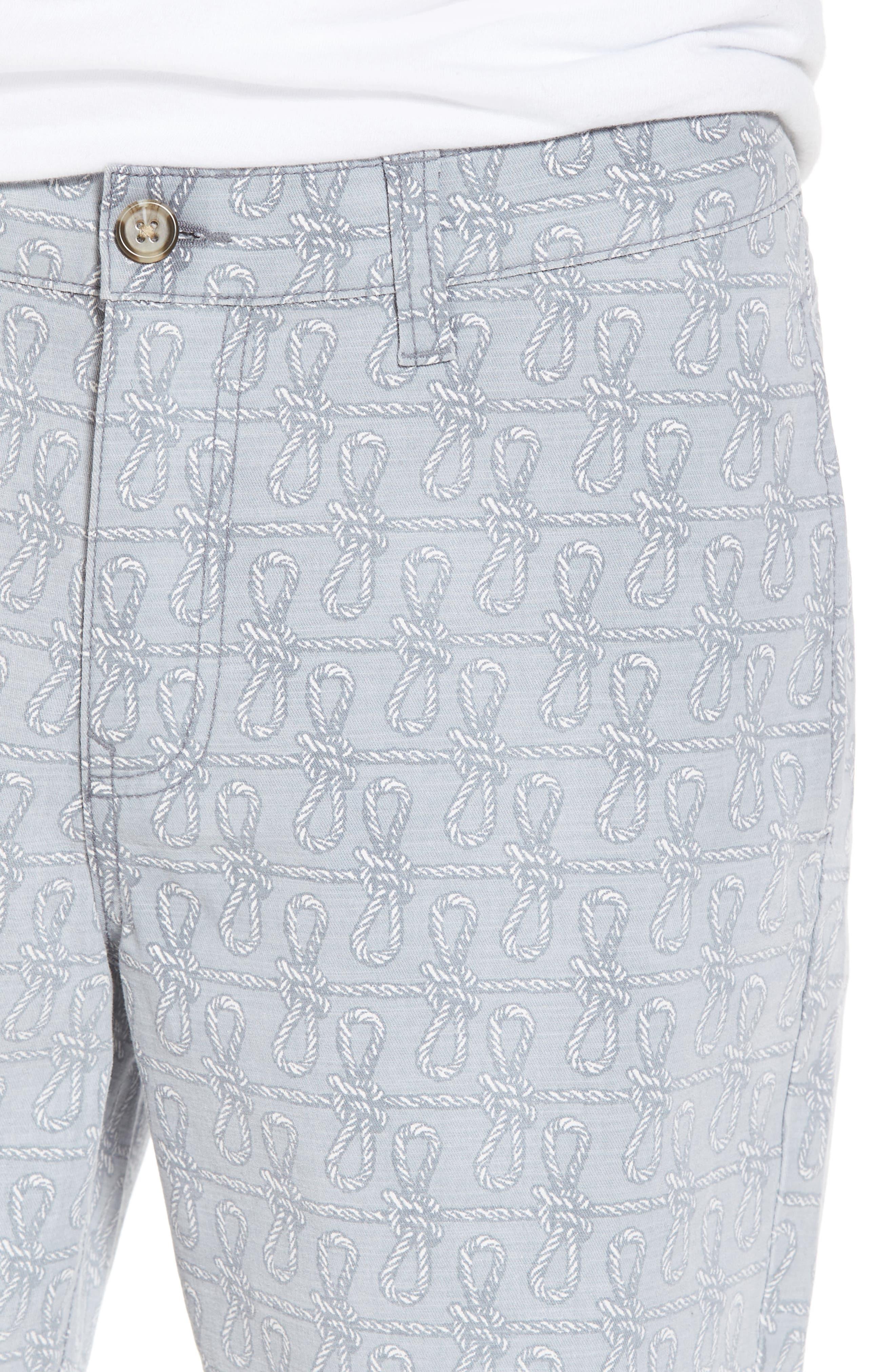 Print Frost Wash Shorts,                             Alternate thumbnail 4, color,                             Grey Rope Print