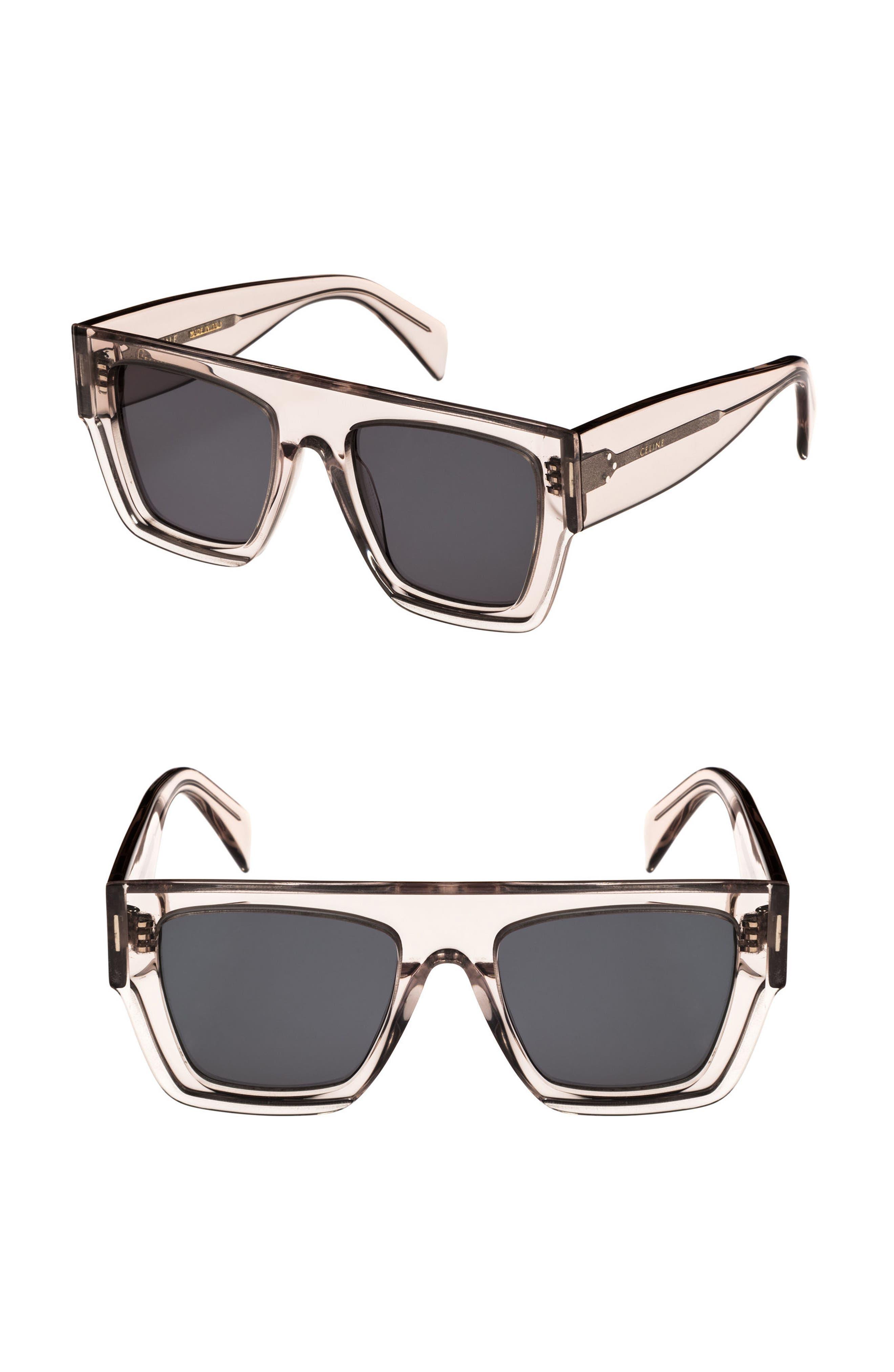 Céline 51mm Rectangular Sunglasses