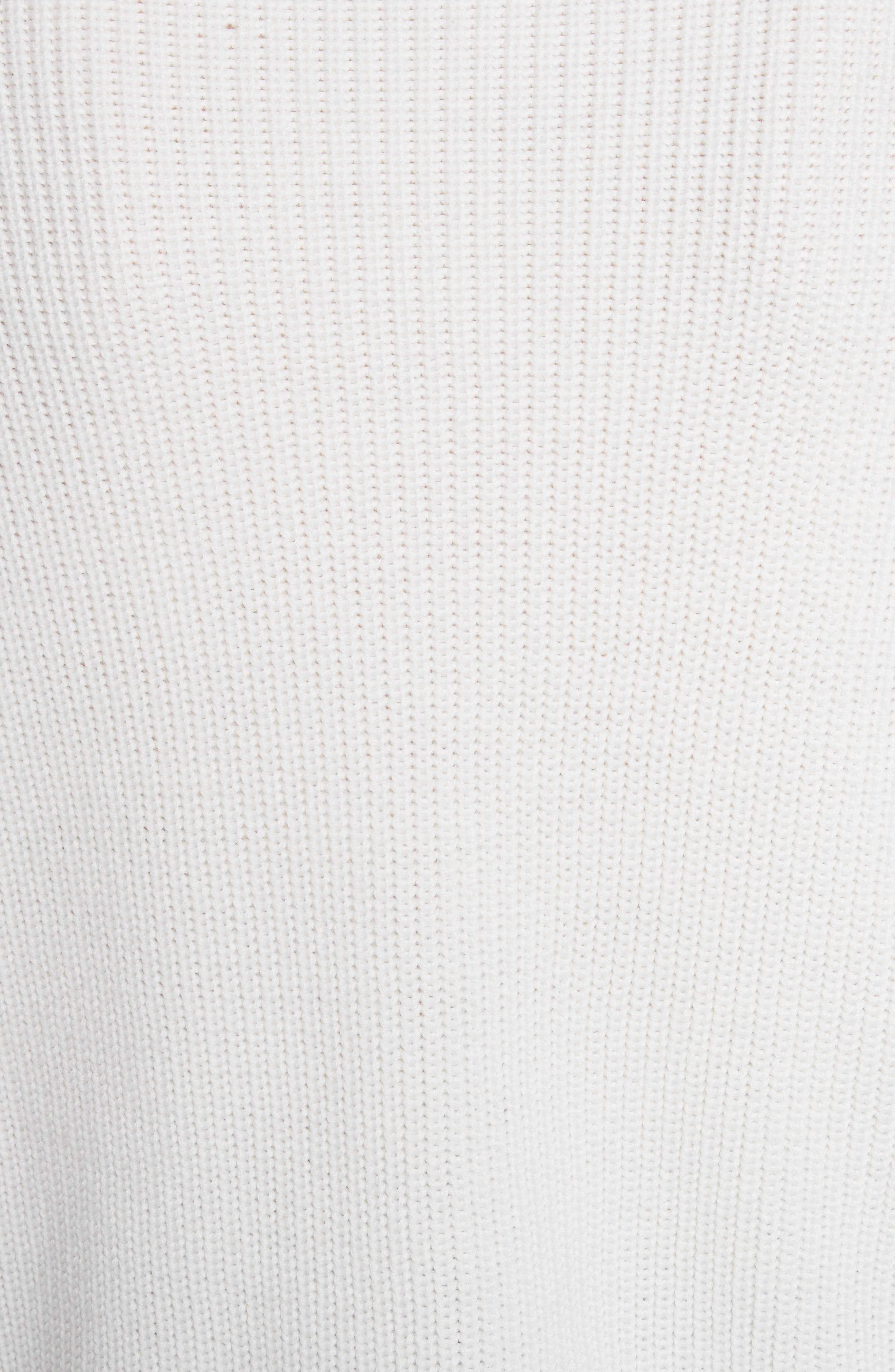 Tori Cutout Sweatshirt,                             Alternate thumbnail 5, color,                             Ivory