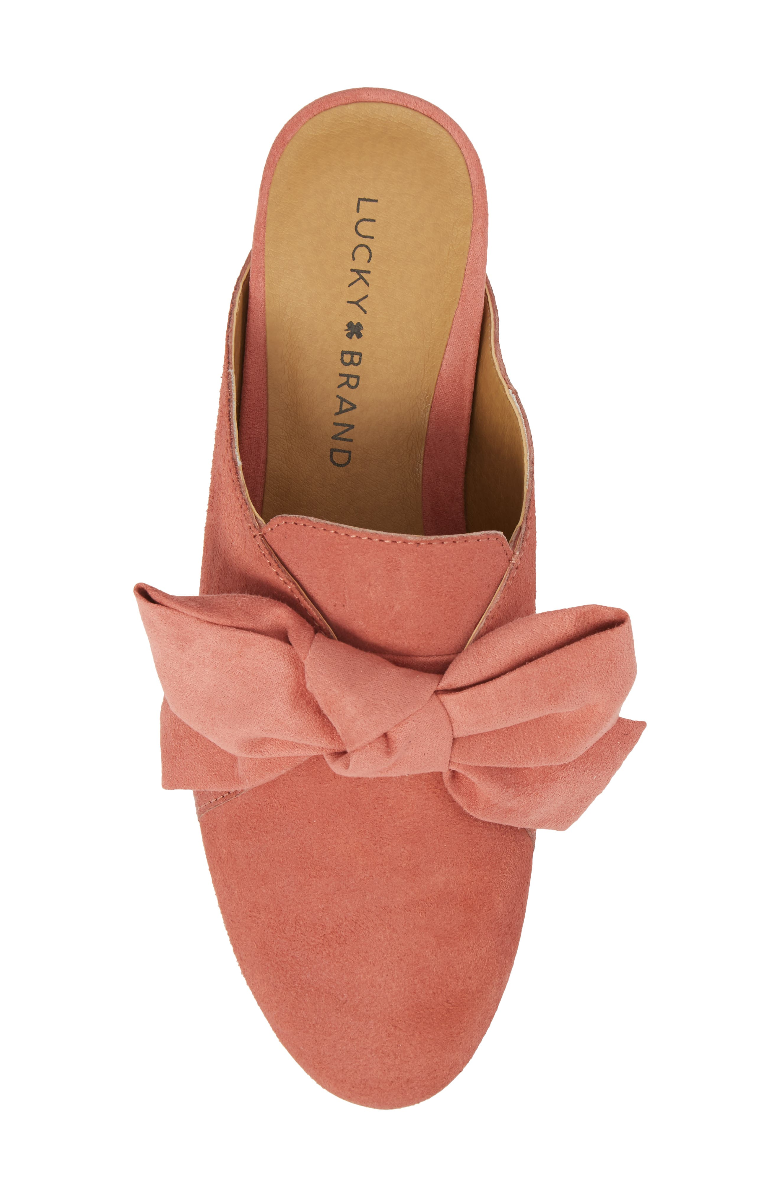 Florean Bow Loafer Mule,                             Alternate thumbnail 5, color,                             Canyon Rose Leather