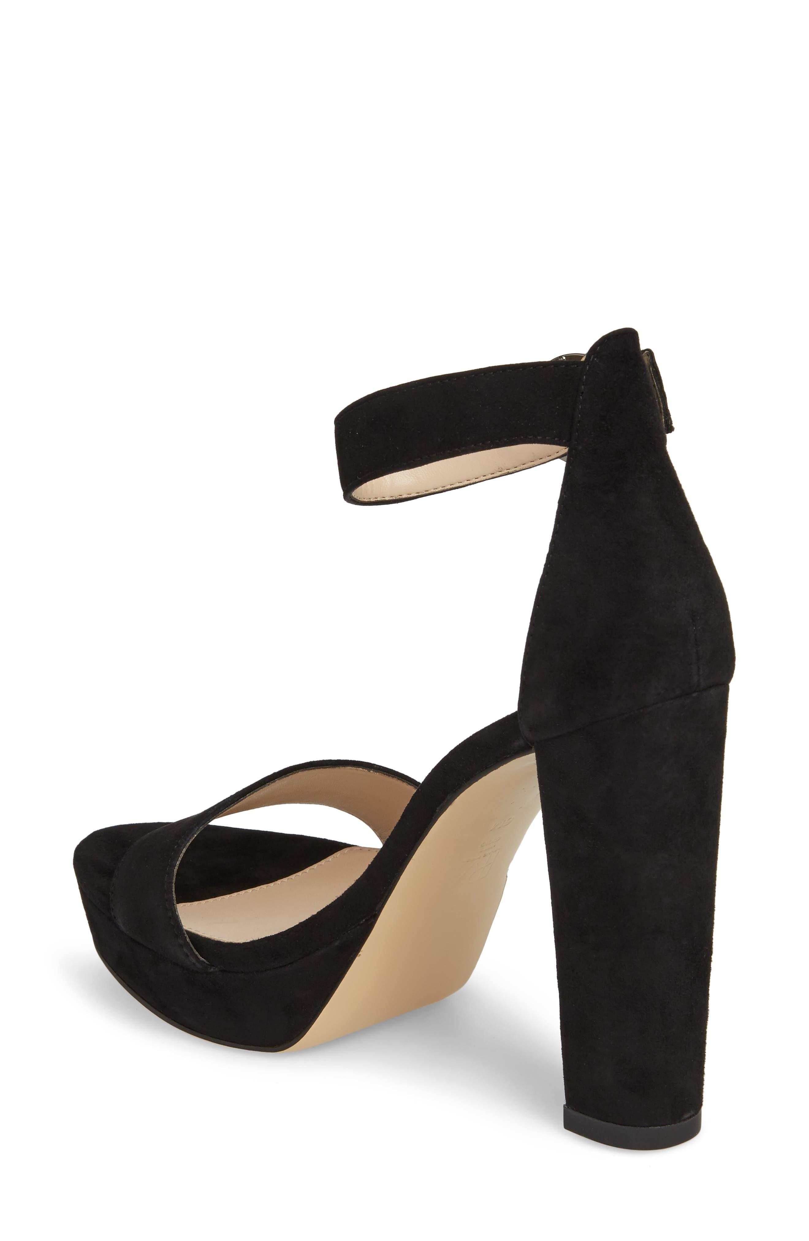 Palo 2 Platform Sandal,                             Alternate thumbnail 2, color,                             Black Suede