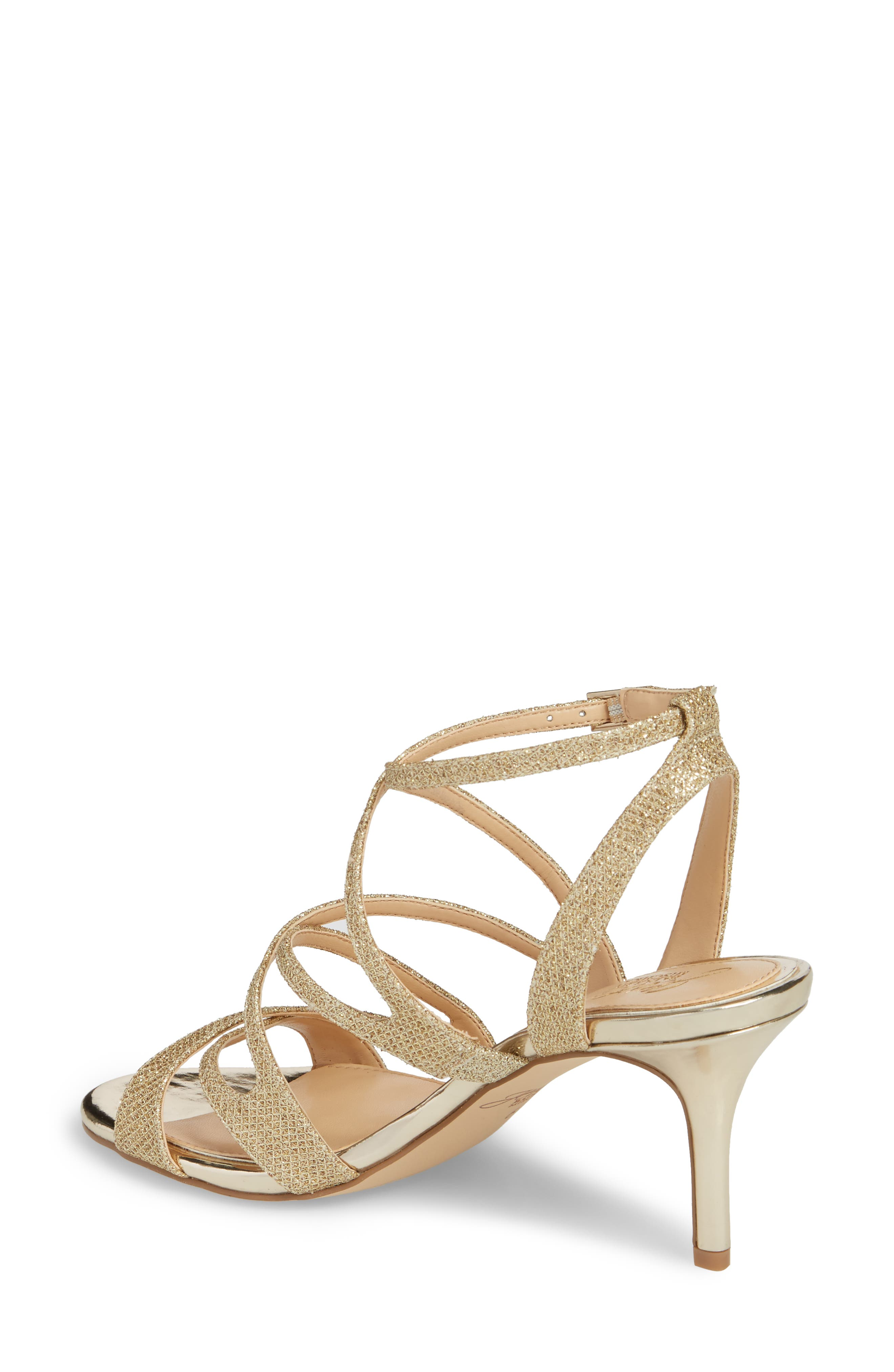 Tasha Glitter Sandal,                             Alternate thumbnail 2, color,                             Light Gold Glitter
