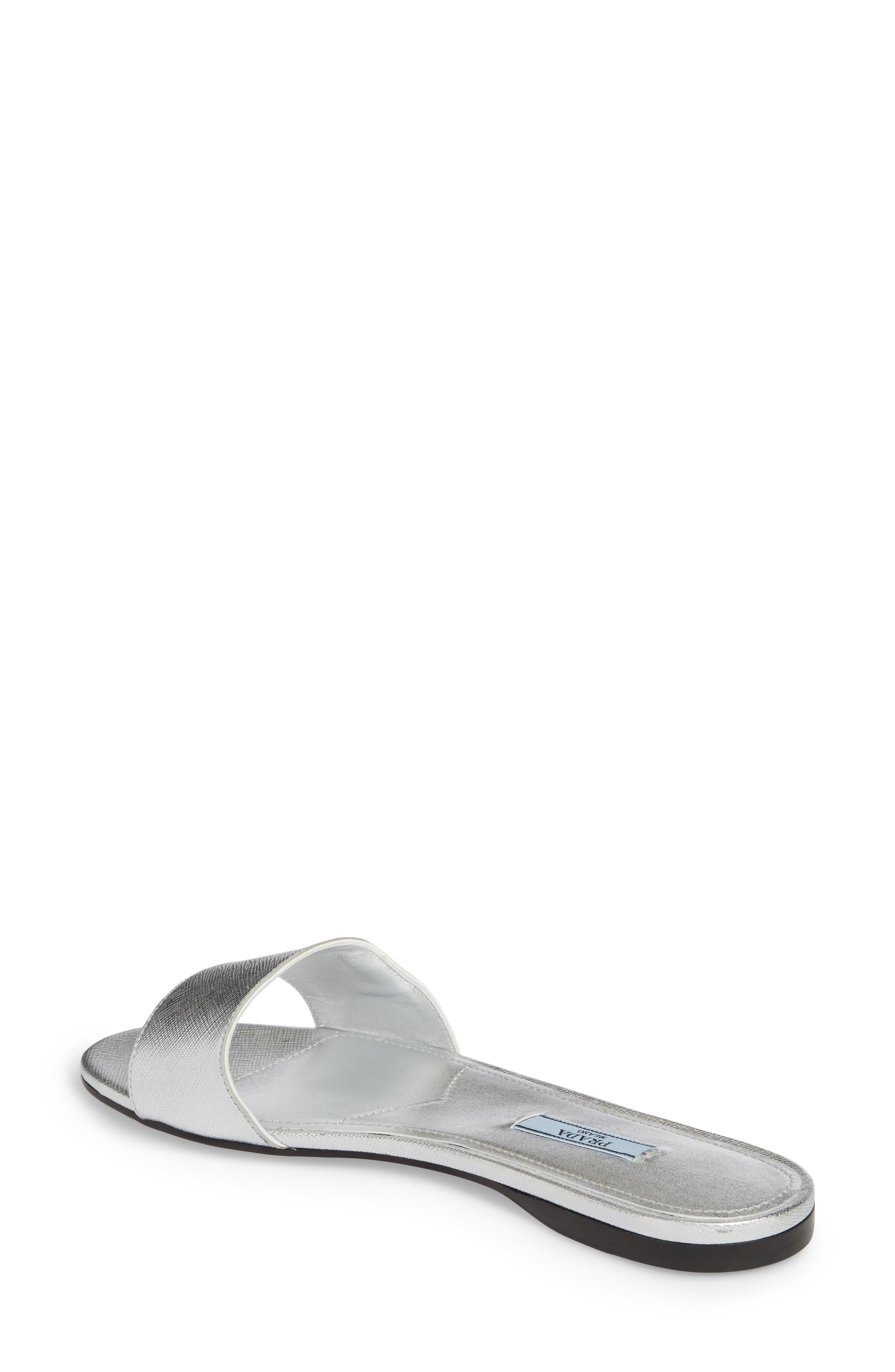Slide Sandal,                             Alternate thumbnail 2, color,                             Silver