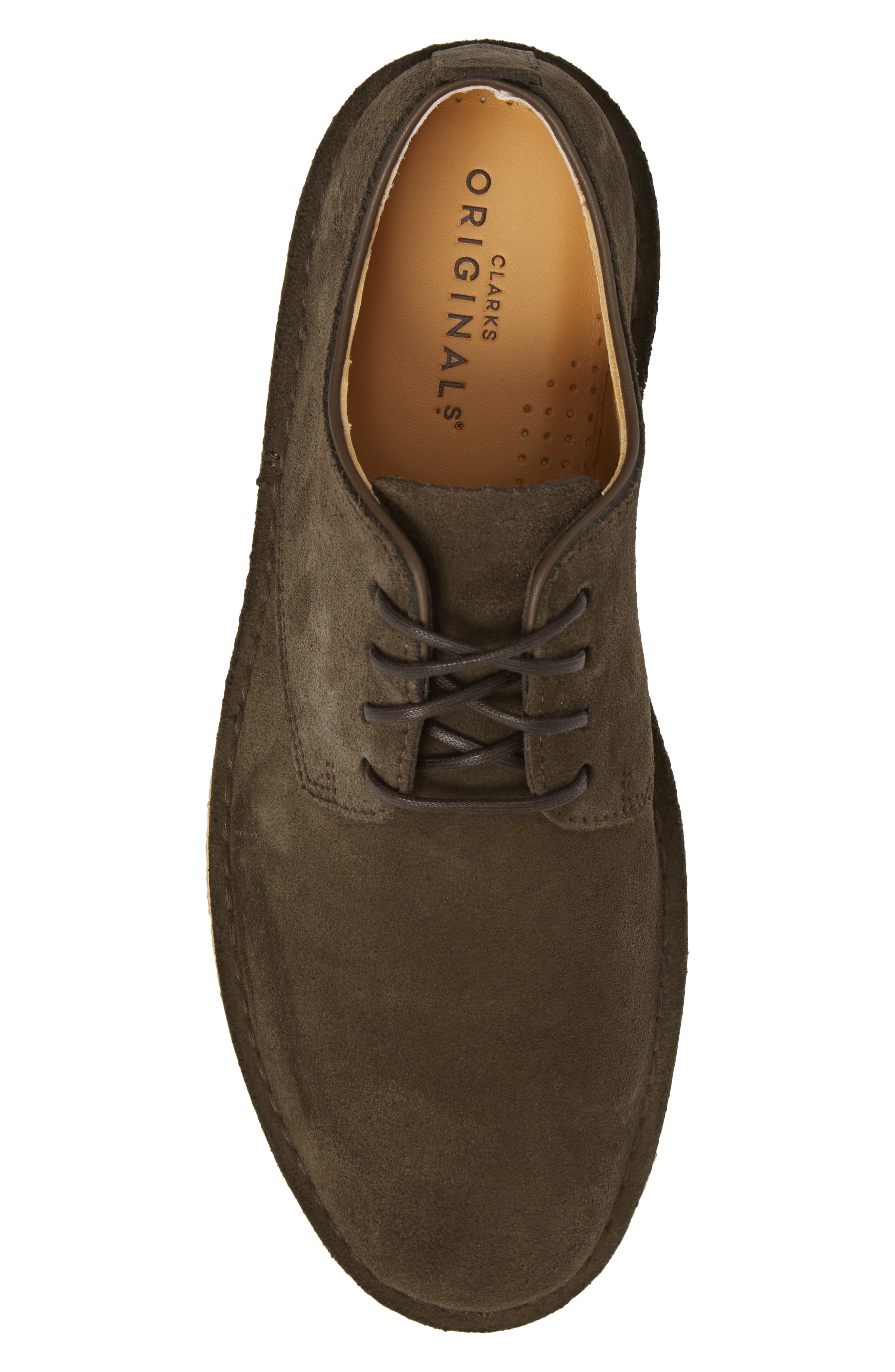 Desert London Suede Plain Toe Derby,                             Alternate thumbnail 5, color,                             Peat Suede