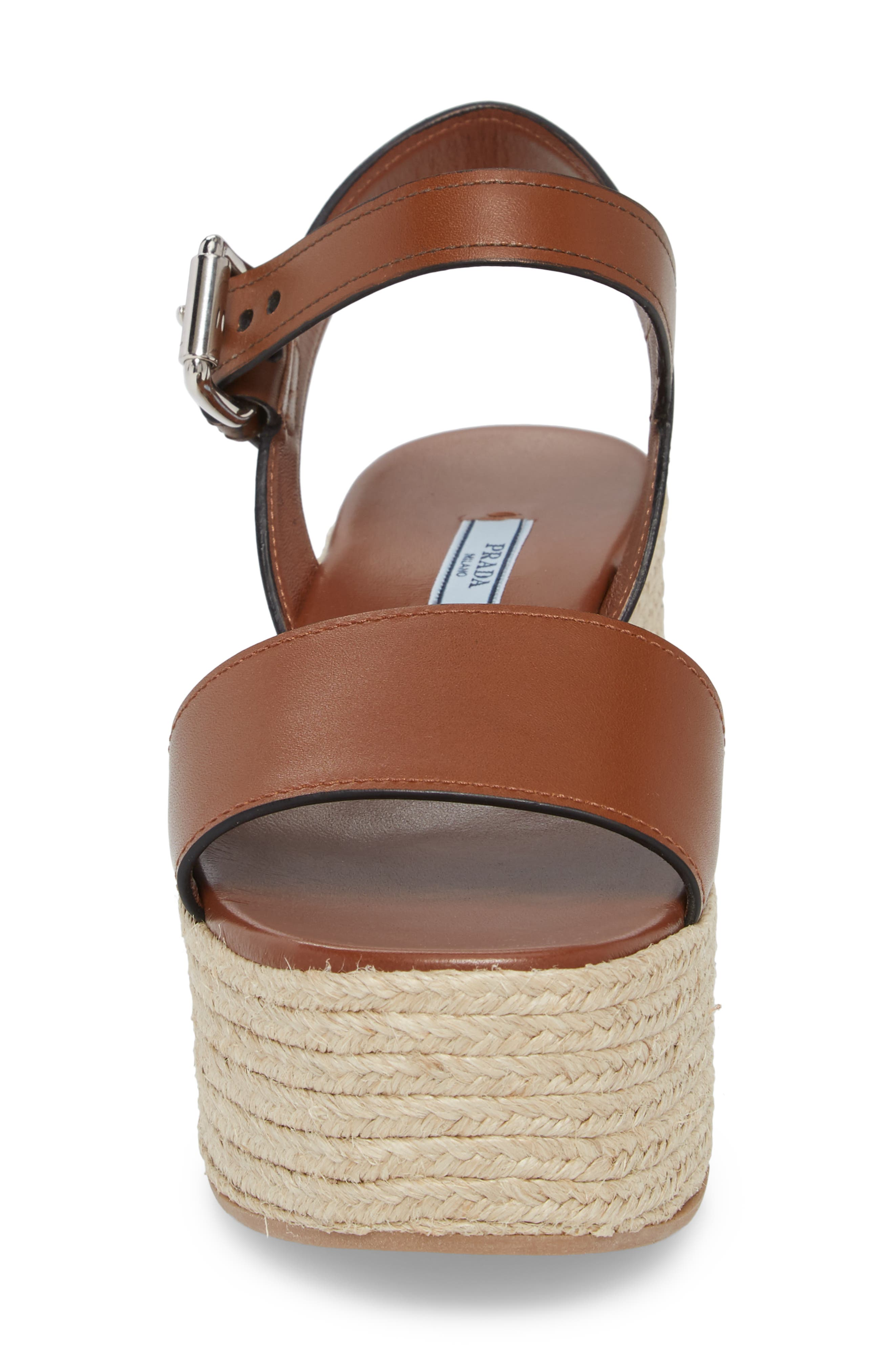 Alternate Image 4  - Prada Platform Espadrille Sandal (Women)