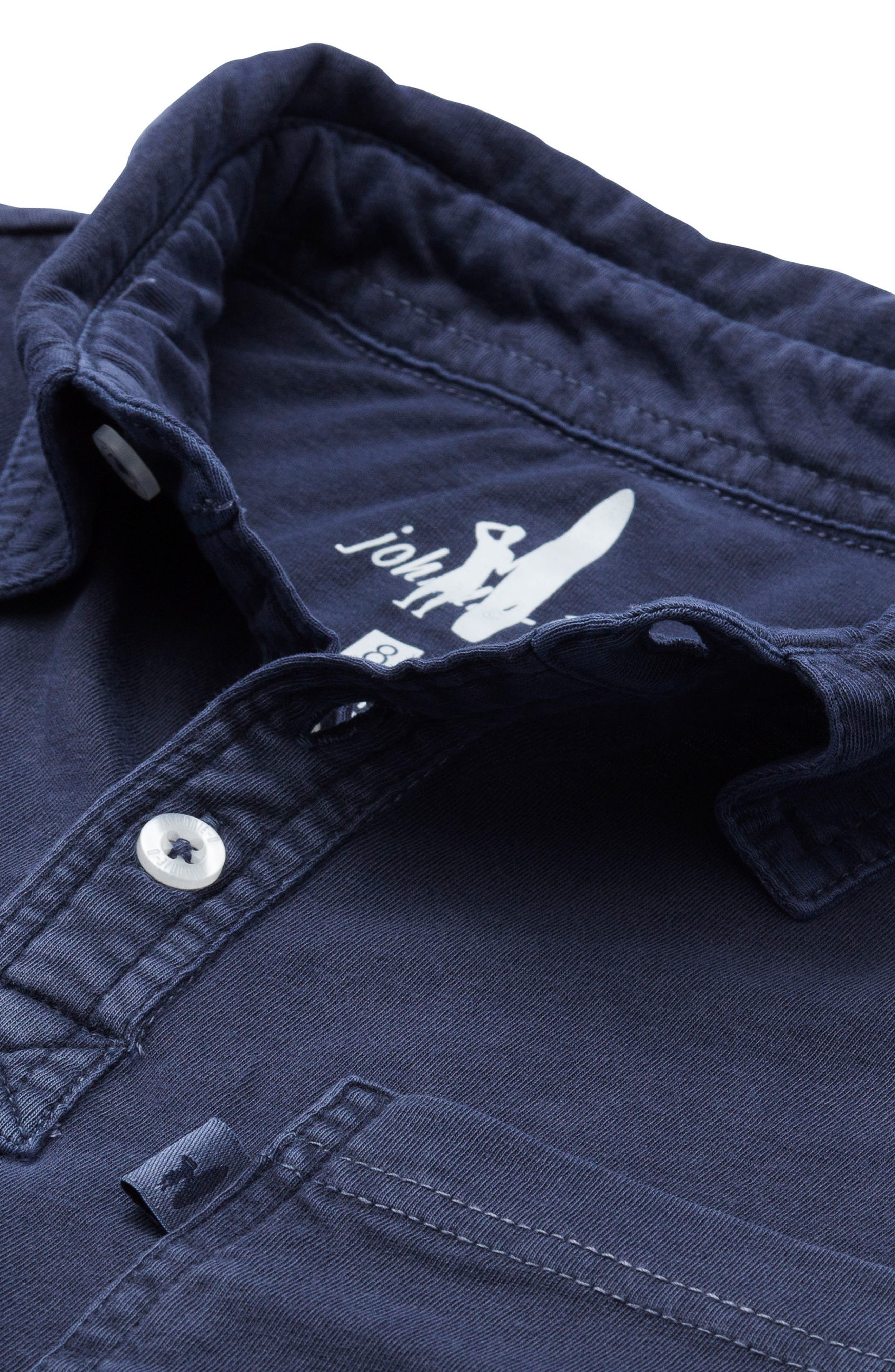 Carbon Long Sleeve Pocket Polo,                             Alternate thumbnail 2, color,                             Abyss
