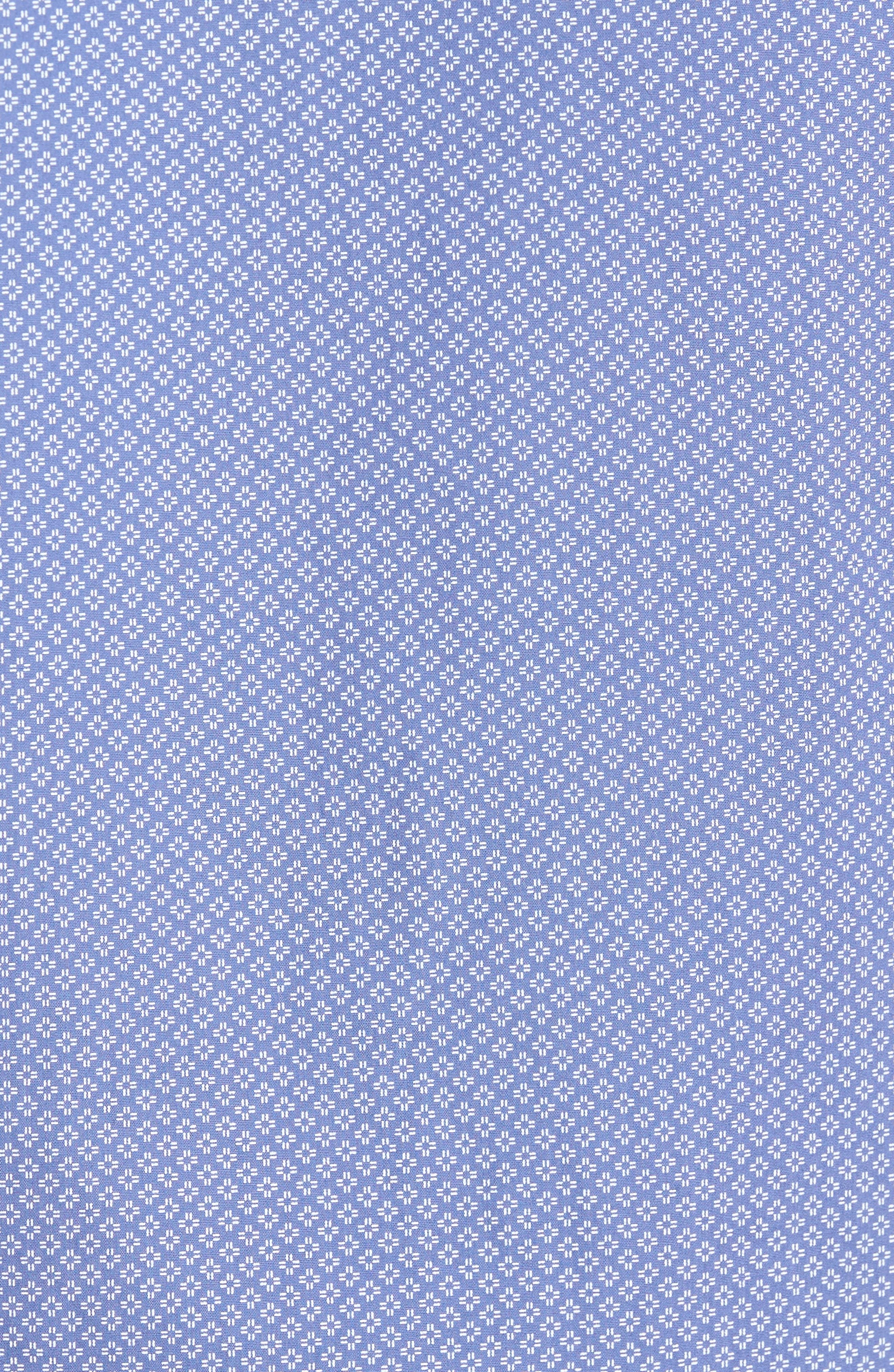 Non-Iron Print Sport Shirt,                             Alternate thumbnail 5, color,                             Blue White Micro Zia