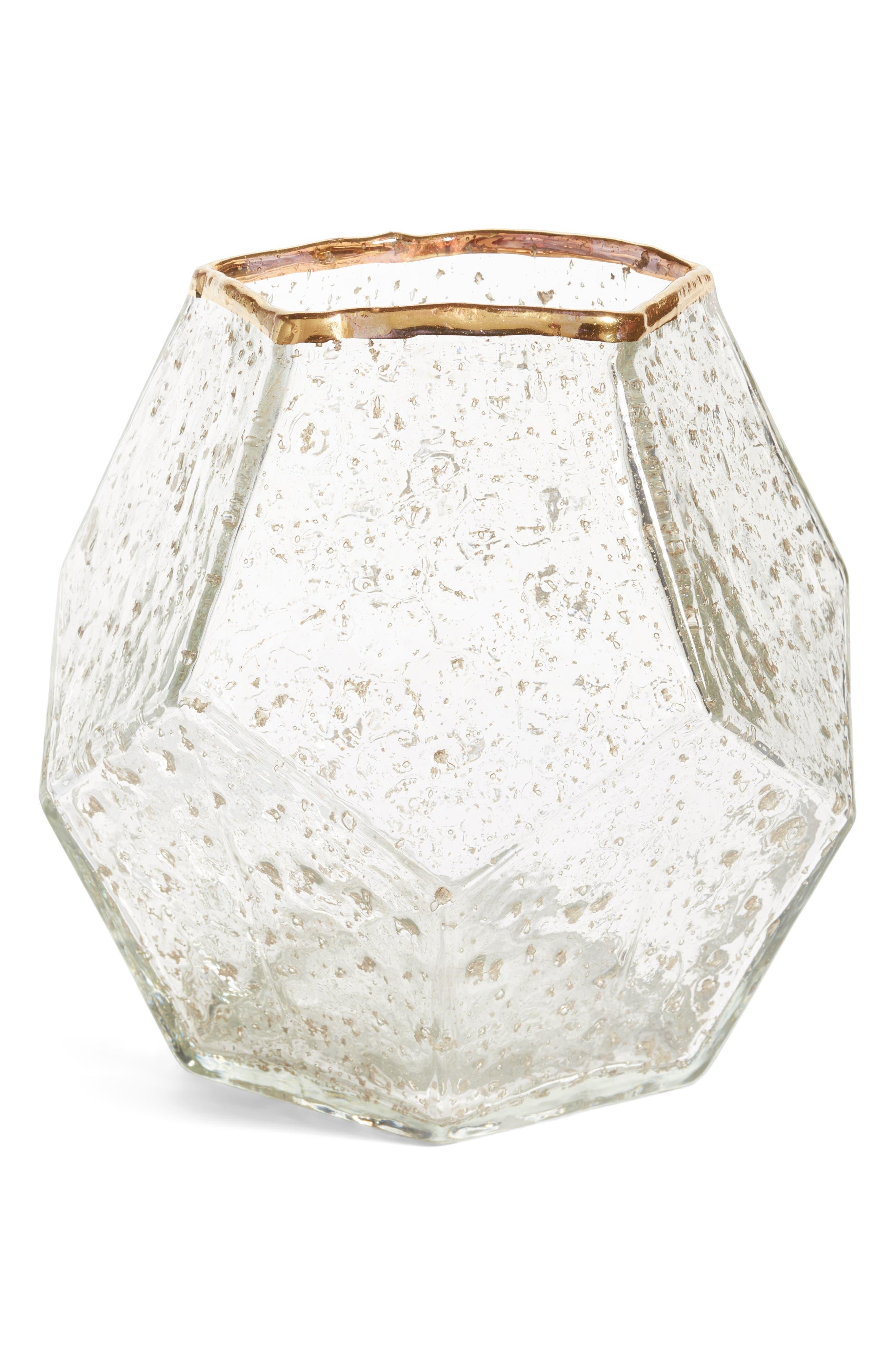 Glass Vase,                             Main thumbnail 1, color,                             Gold Metallic