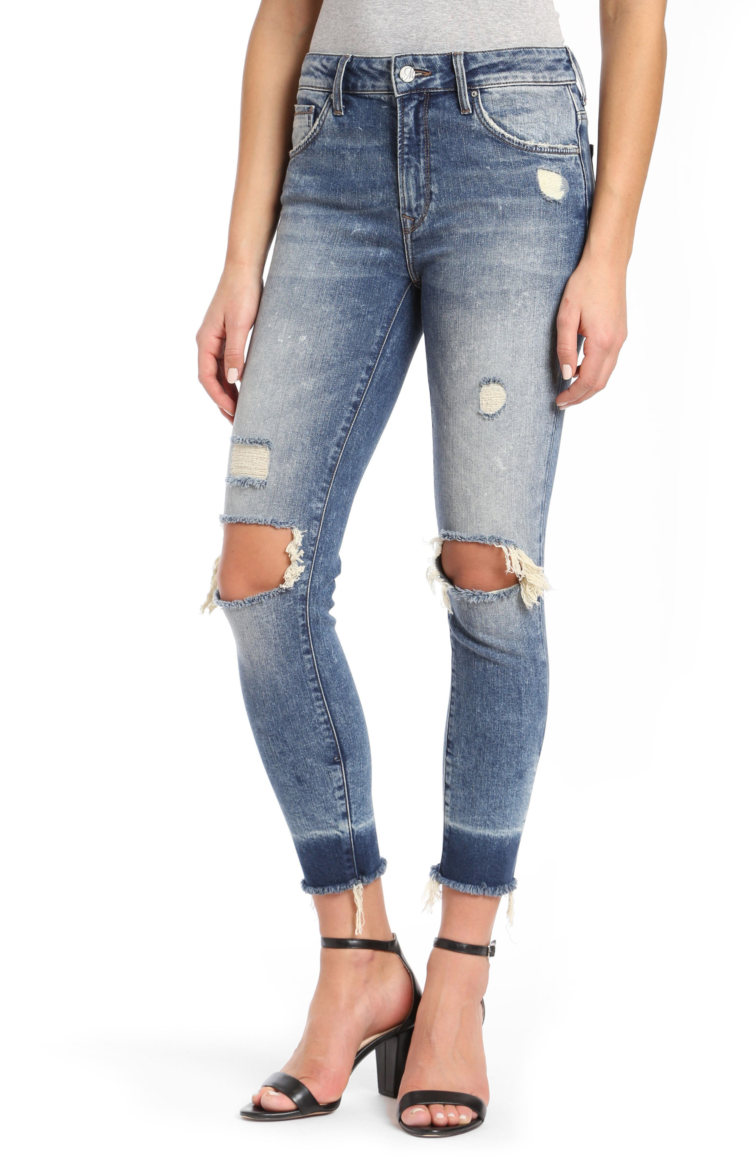 Tess Super Skinny Jeans,                         Main,                         color, Ripped Vintage