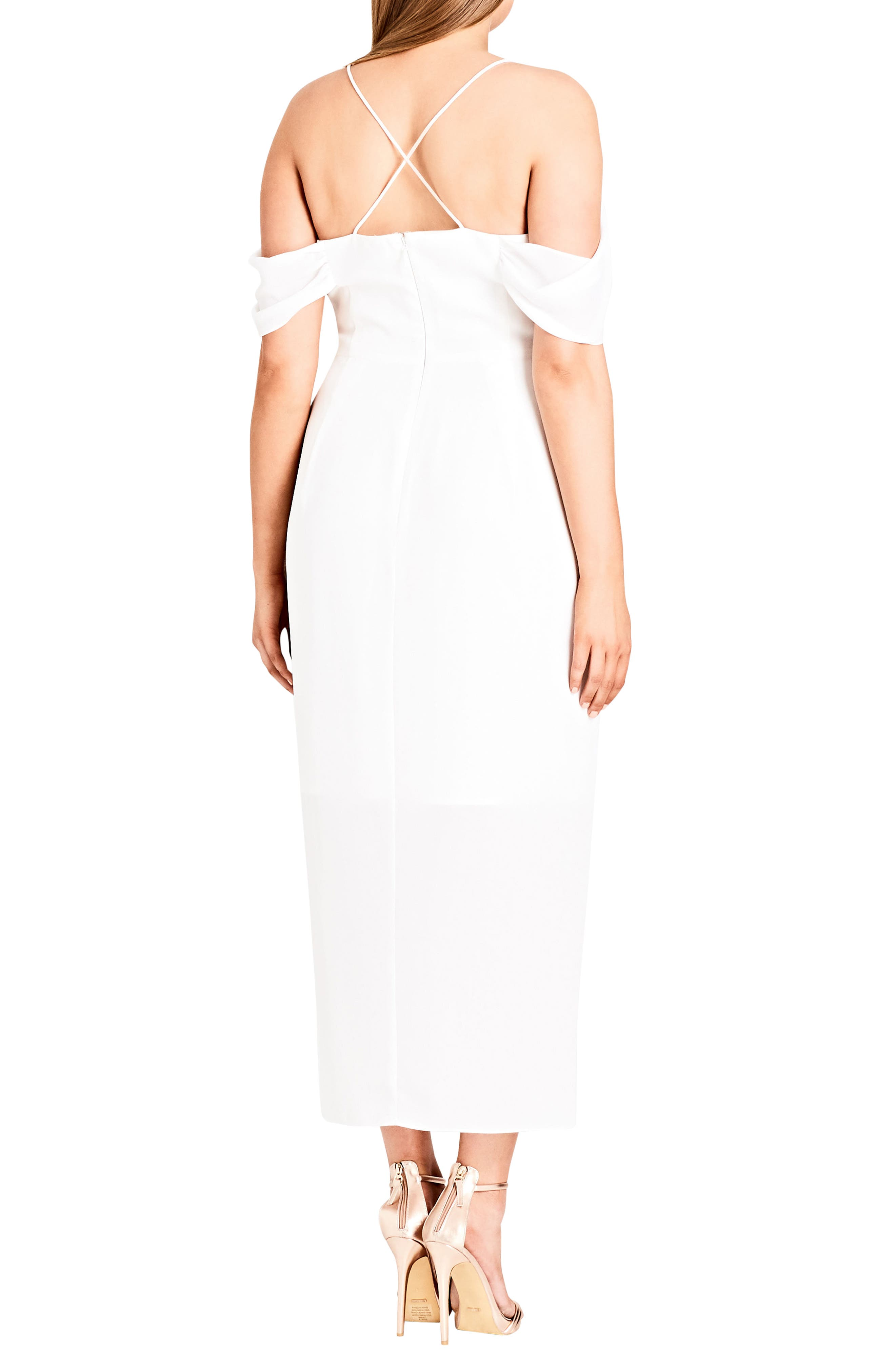 Alternate Image 2  - City Chic Entwine Off the Shoulder Maxi Dress (Plus Size)