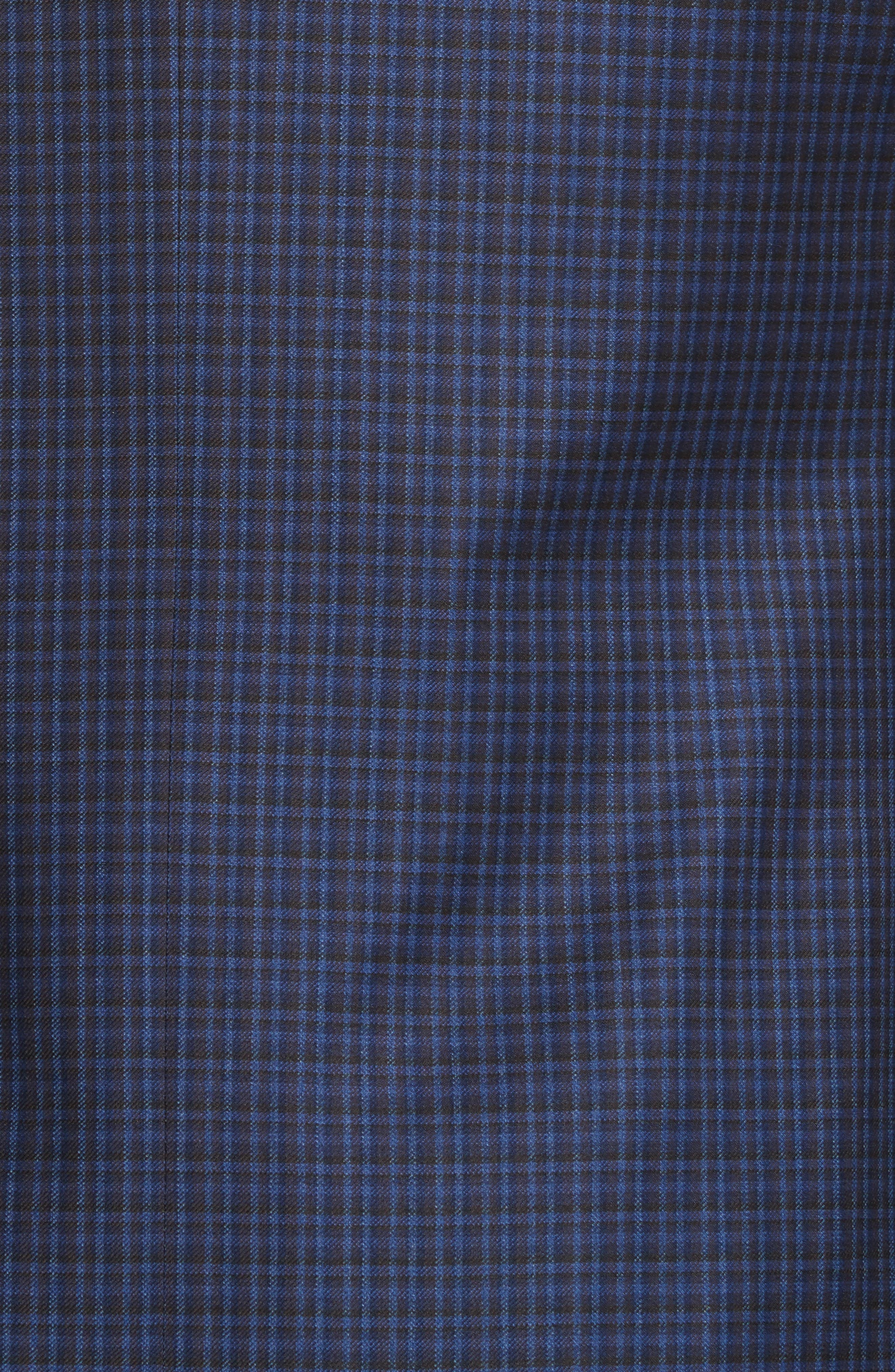 Alternate Image 5  - Canali Classic Fit Check Wool Sport Coat