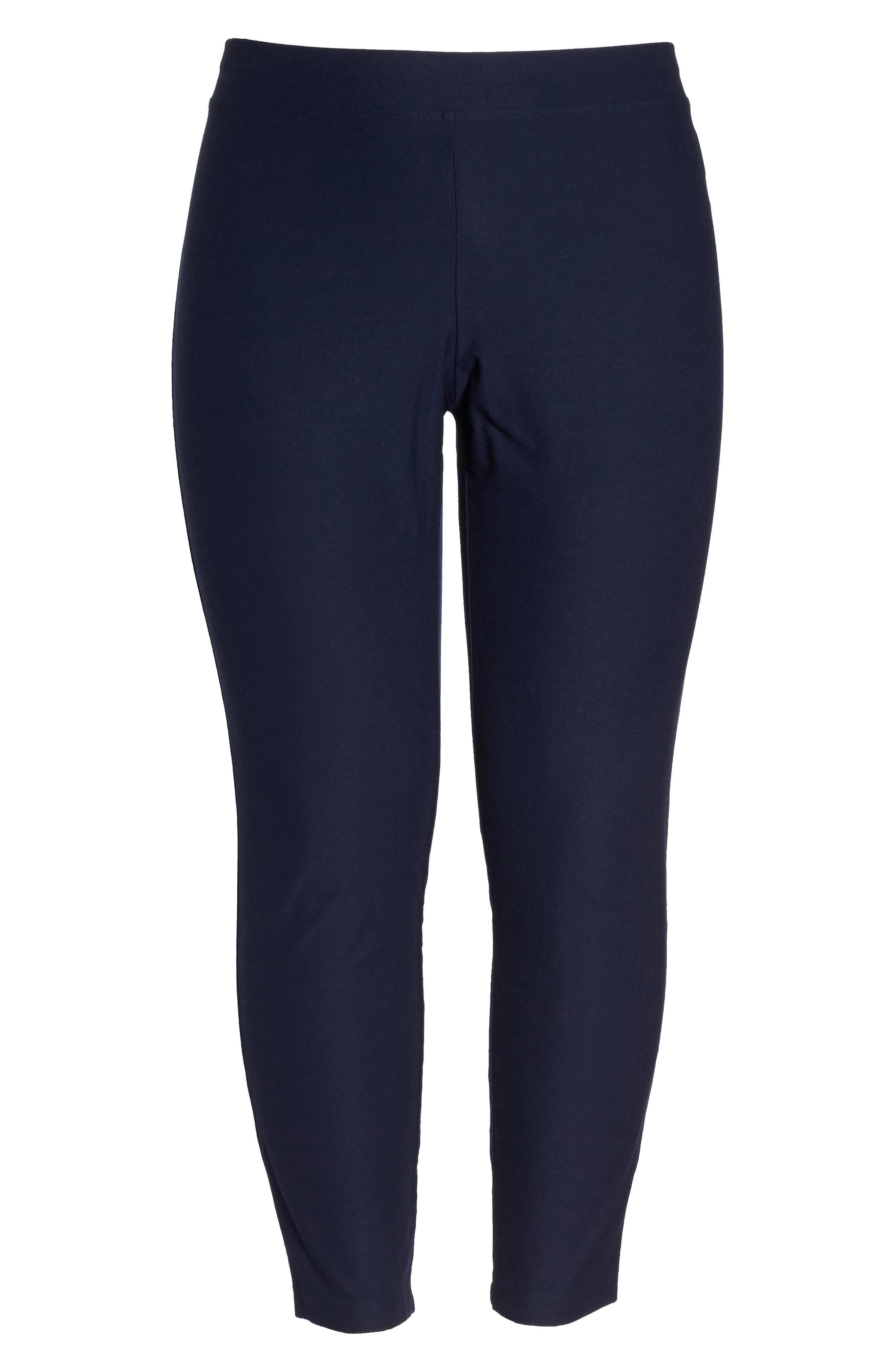 Alternate Image 6  - Eileen Fisher Crepe Ankle Pants (Plus Size)