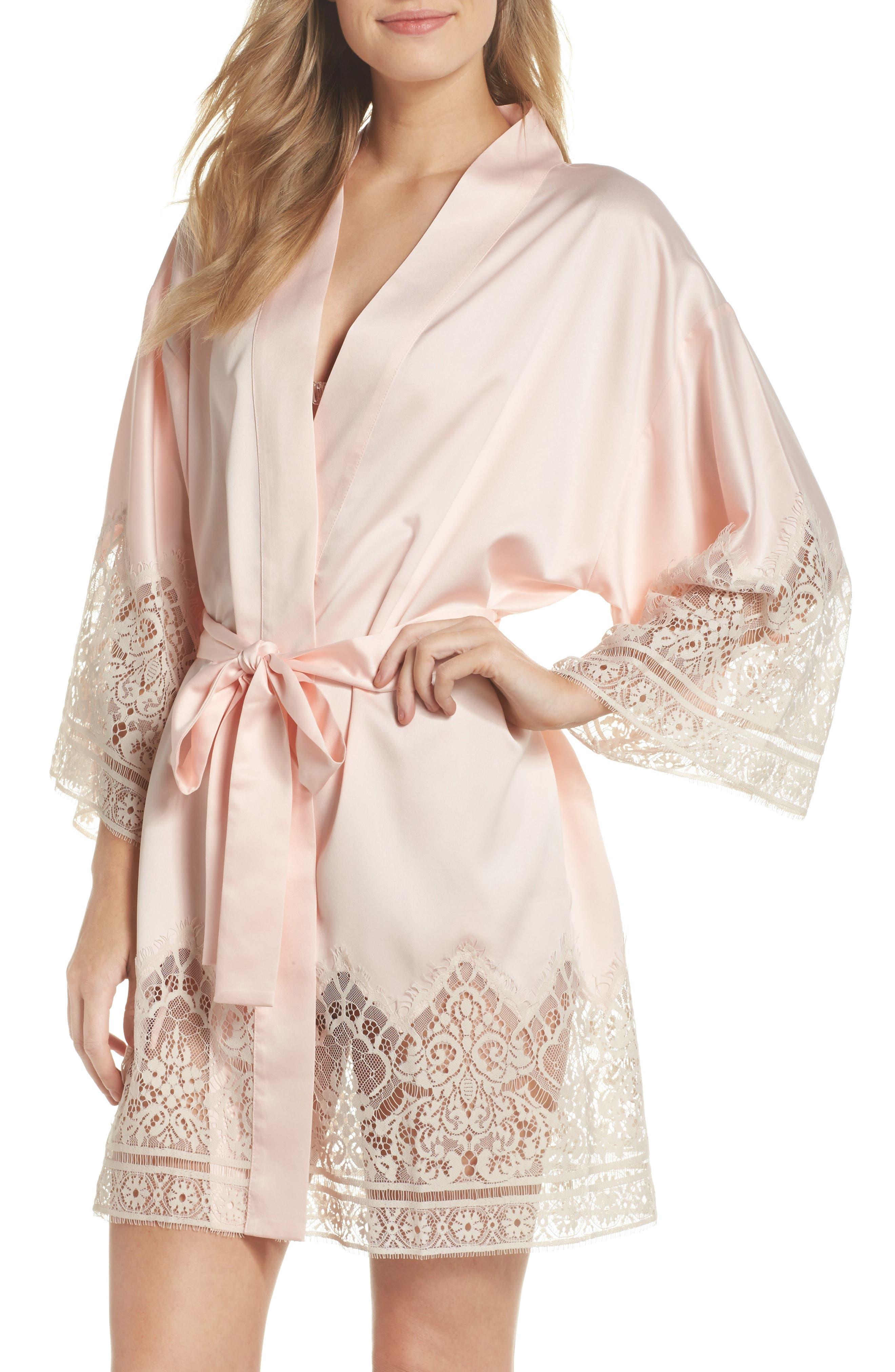 Genevive Short Robe,                         Main,                         color, Buff