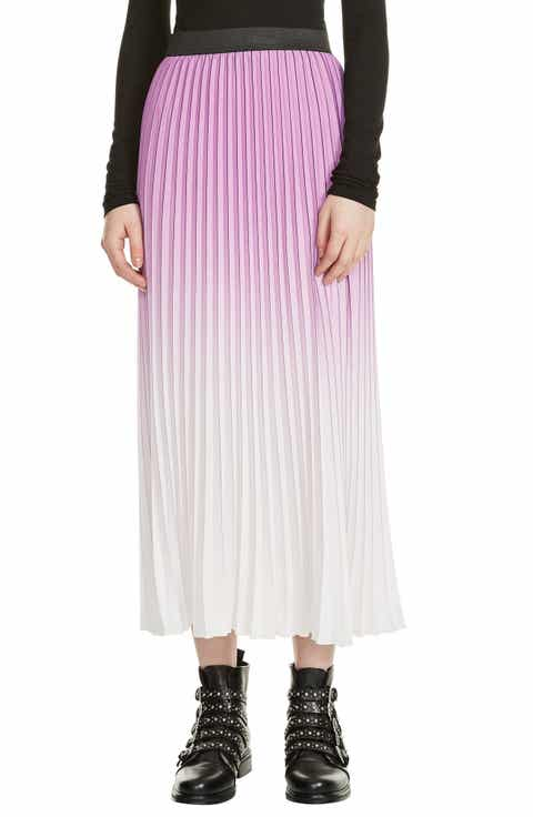 maje Jonael Pleated Midi Skirt