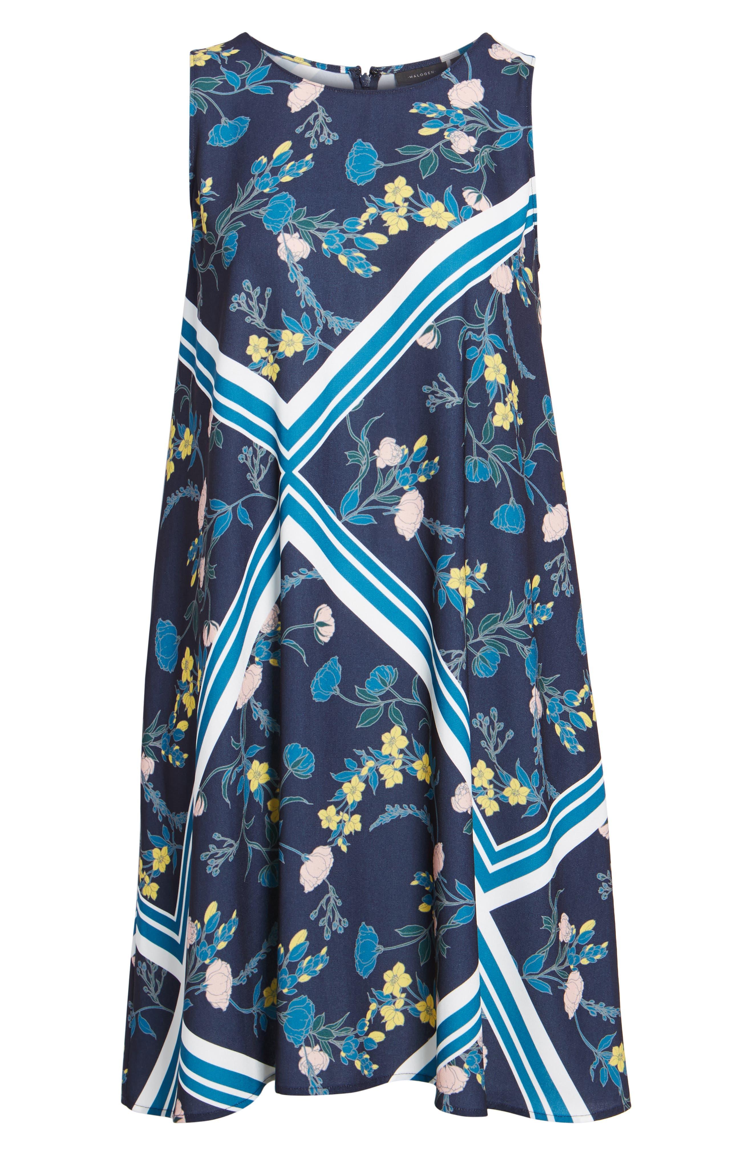 Alternate Image 7  - Halogen® A-Line Dress (Regular & Petite)