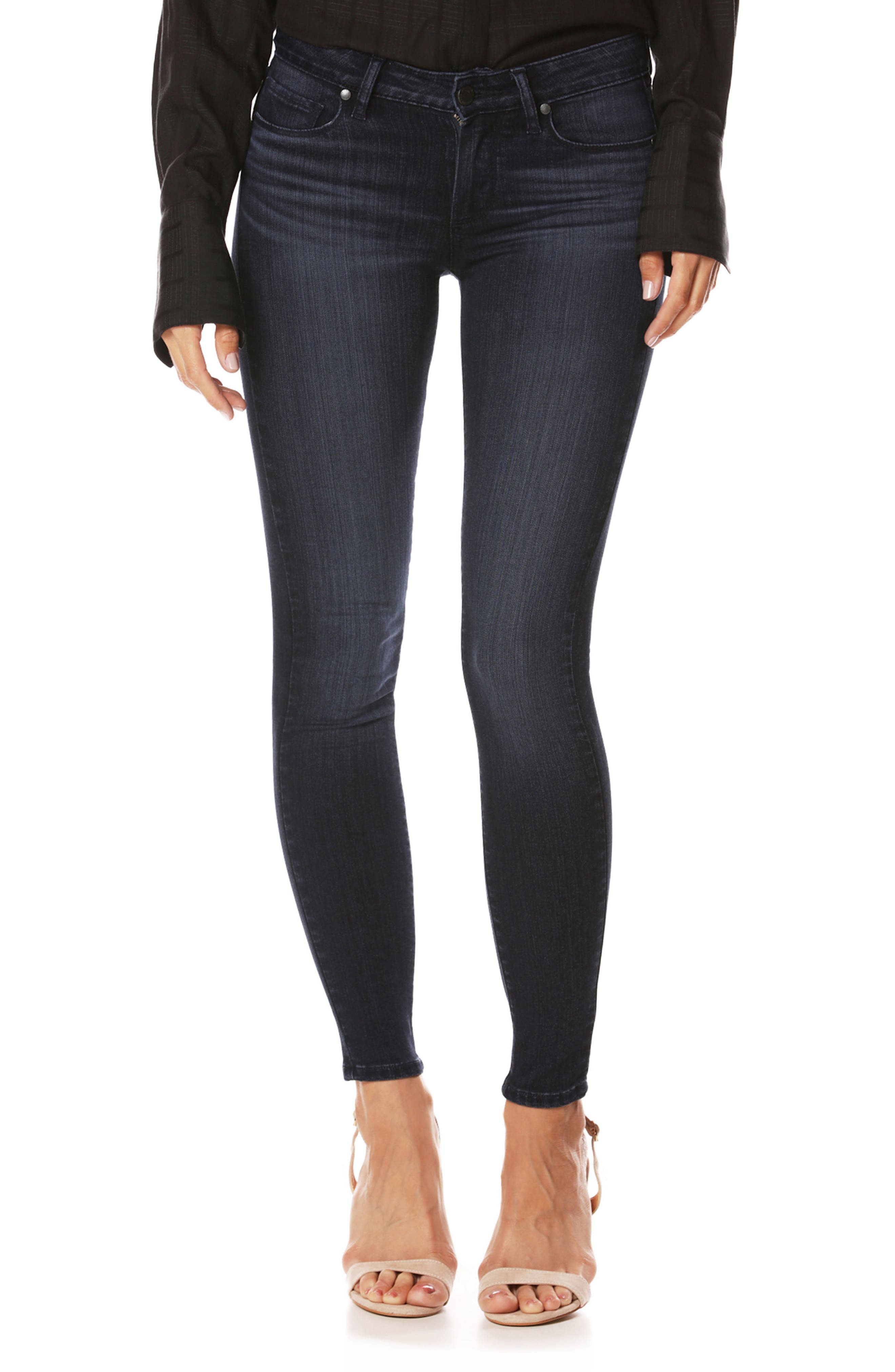 PAIGE Transcend - Hoxton High Waist Crop Skinny Jeans (Judson)