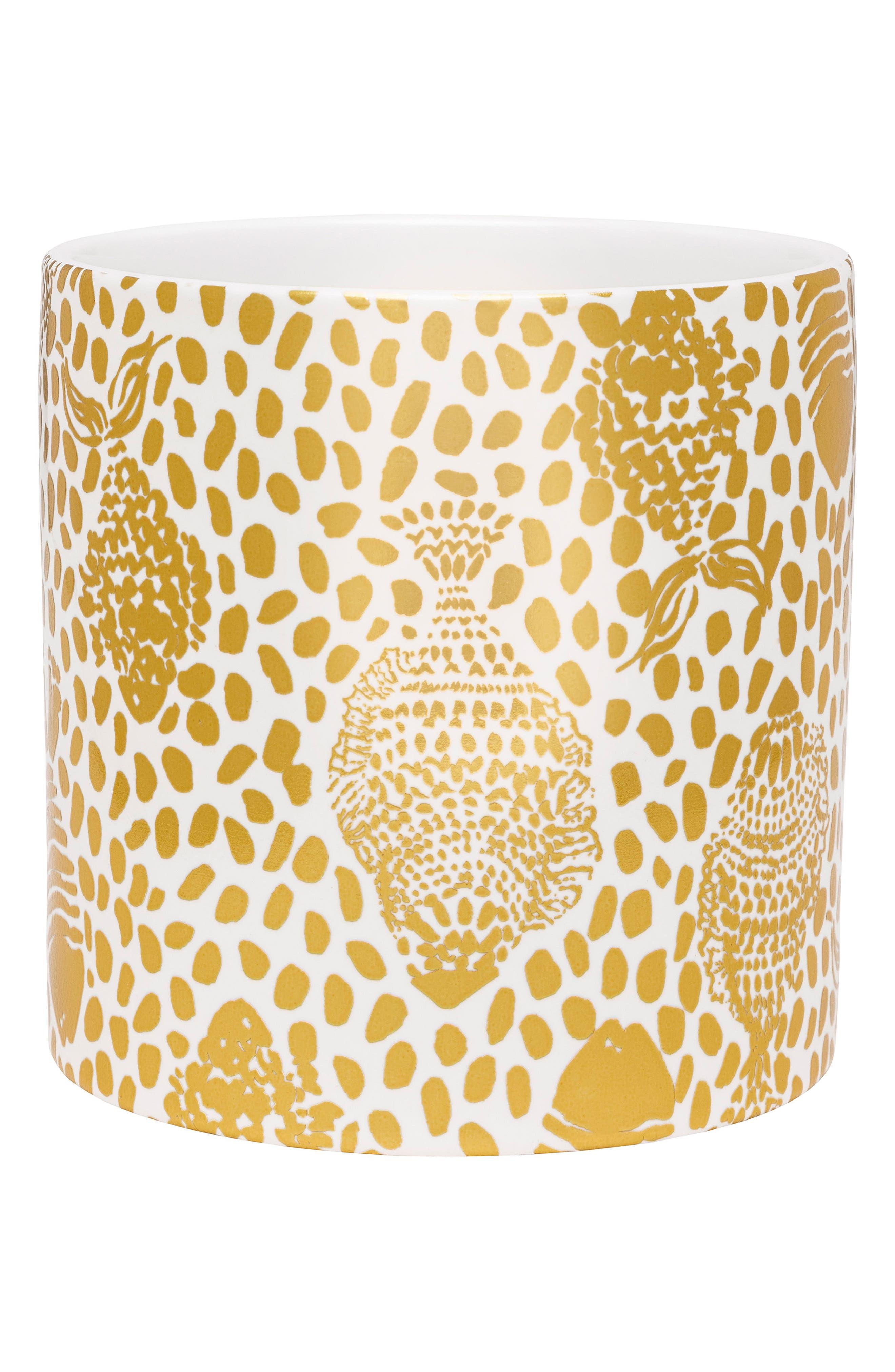 Ceramic Vase,                         Main,                         color, Metallic Gold