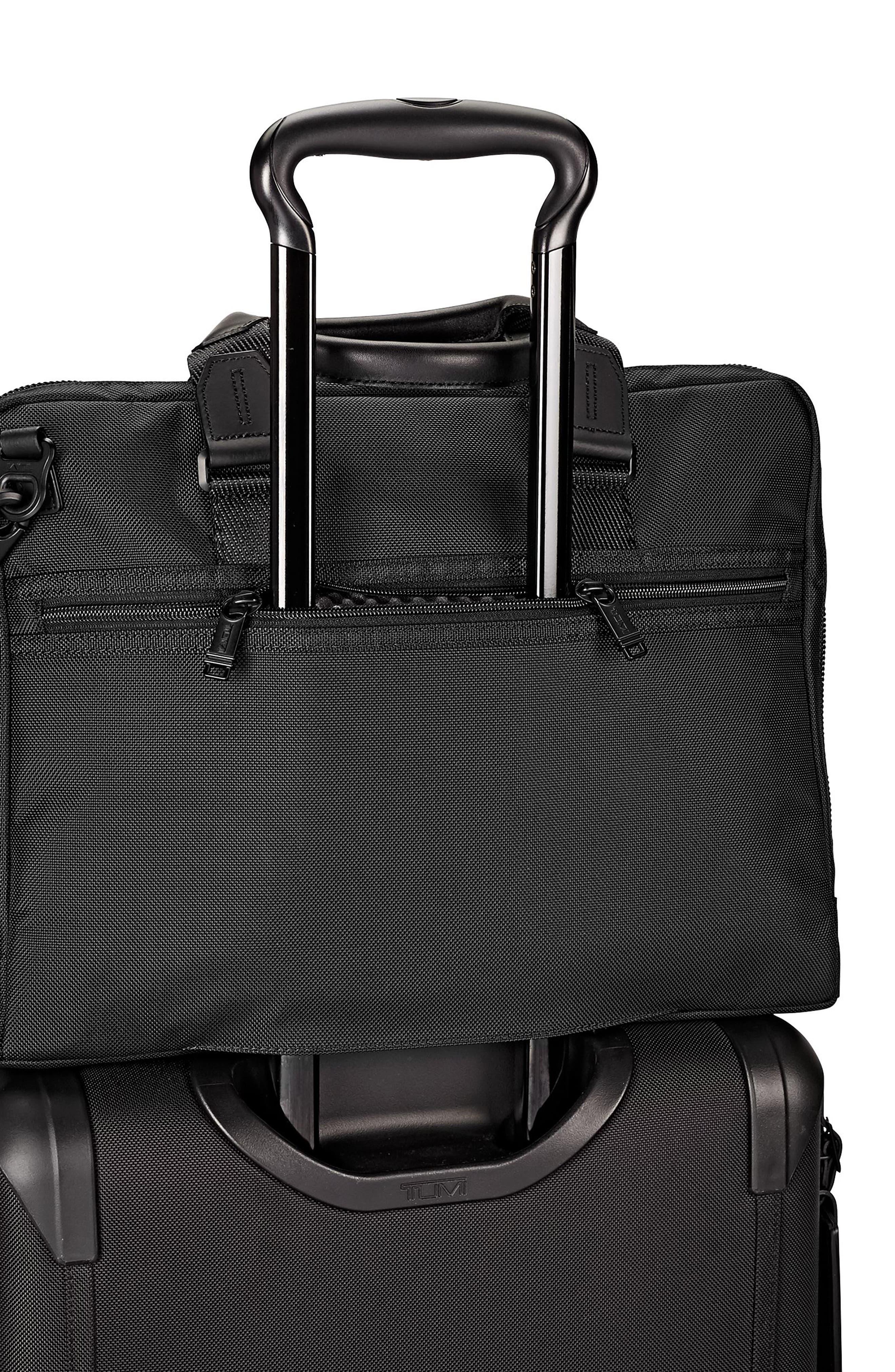 Alpha Bravo - Aviano Slim Briefcase,                             Alternate thumbnail 6, color,                             Black