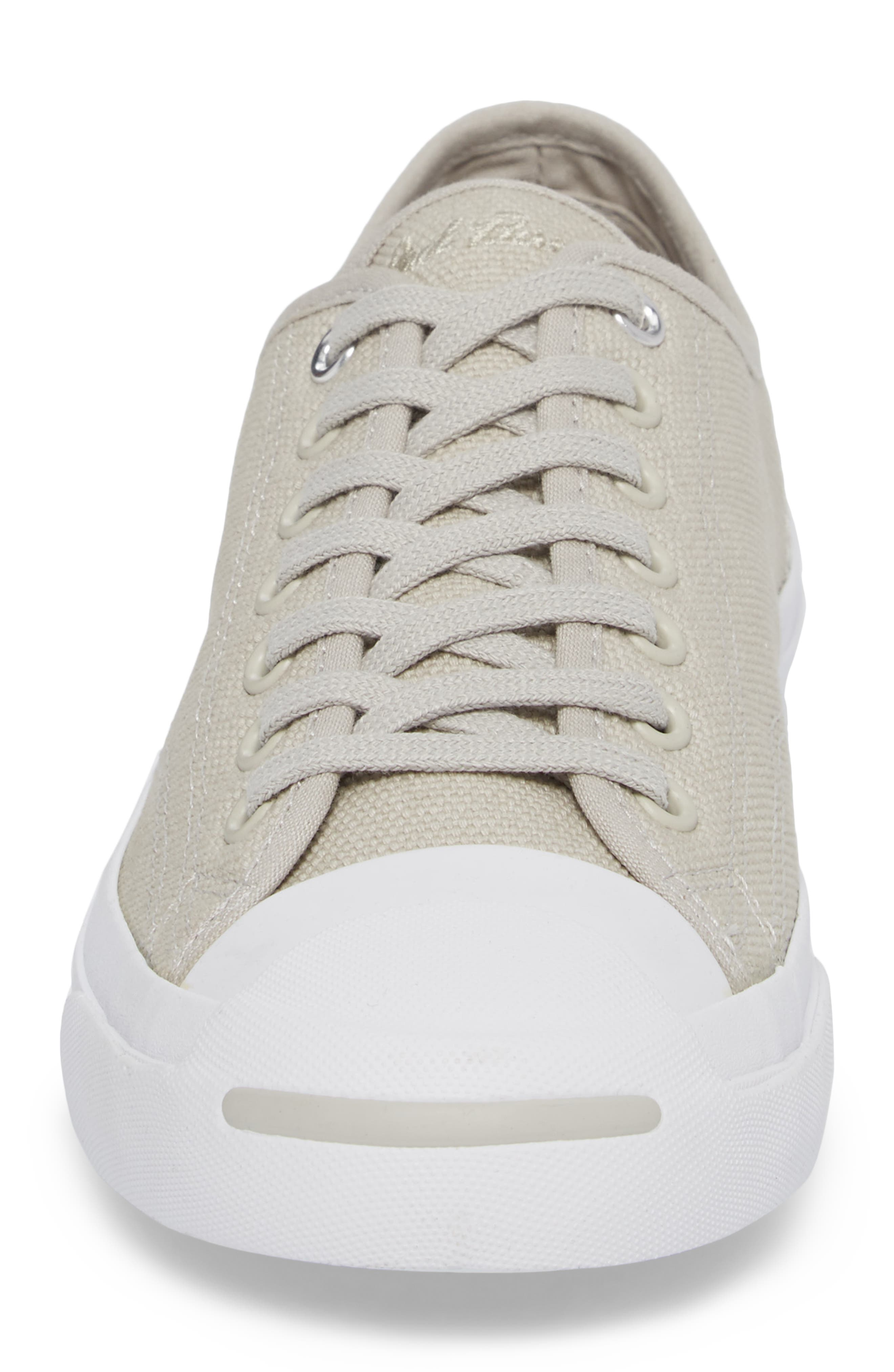 Jack Purcell Sneaker,                             Alternate thumbnail 4, color,                             Pale Grey Canvas
