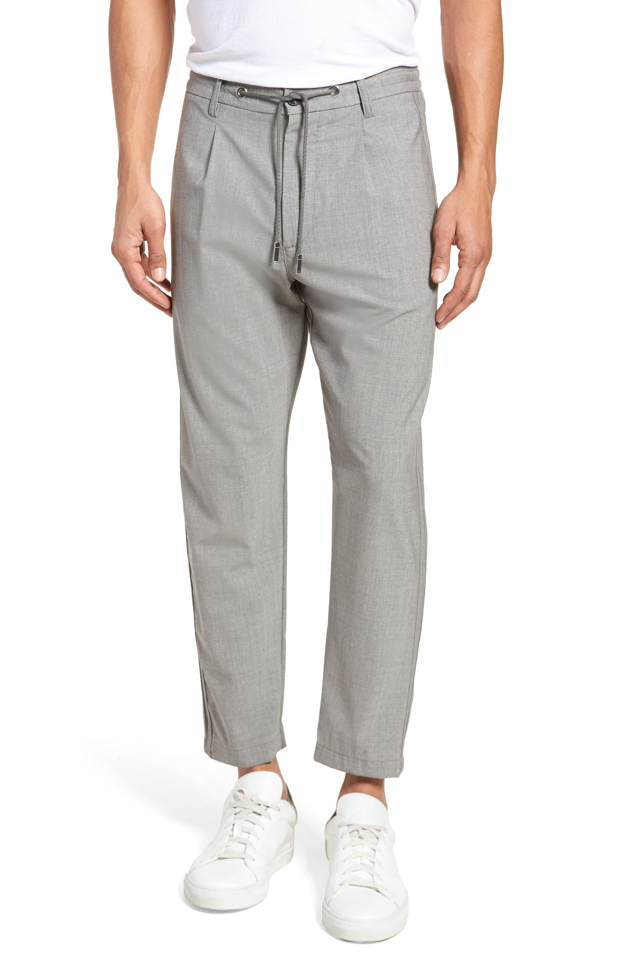 Eleventy Wool Blend Drawstring Jogger Pants