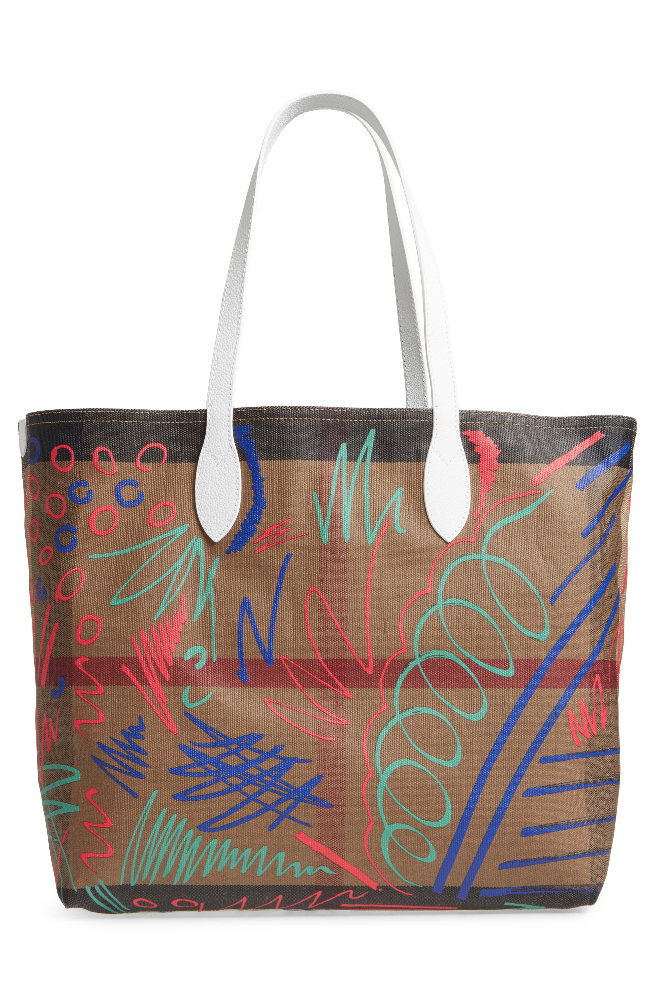 Alternate Image 3  - Burberry Doodletote/Check Reversible Canvas Tote