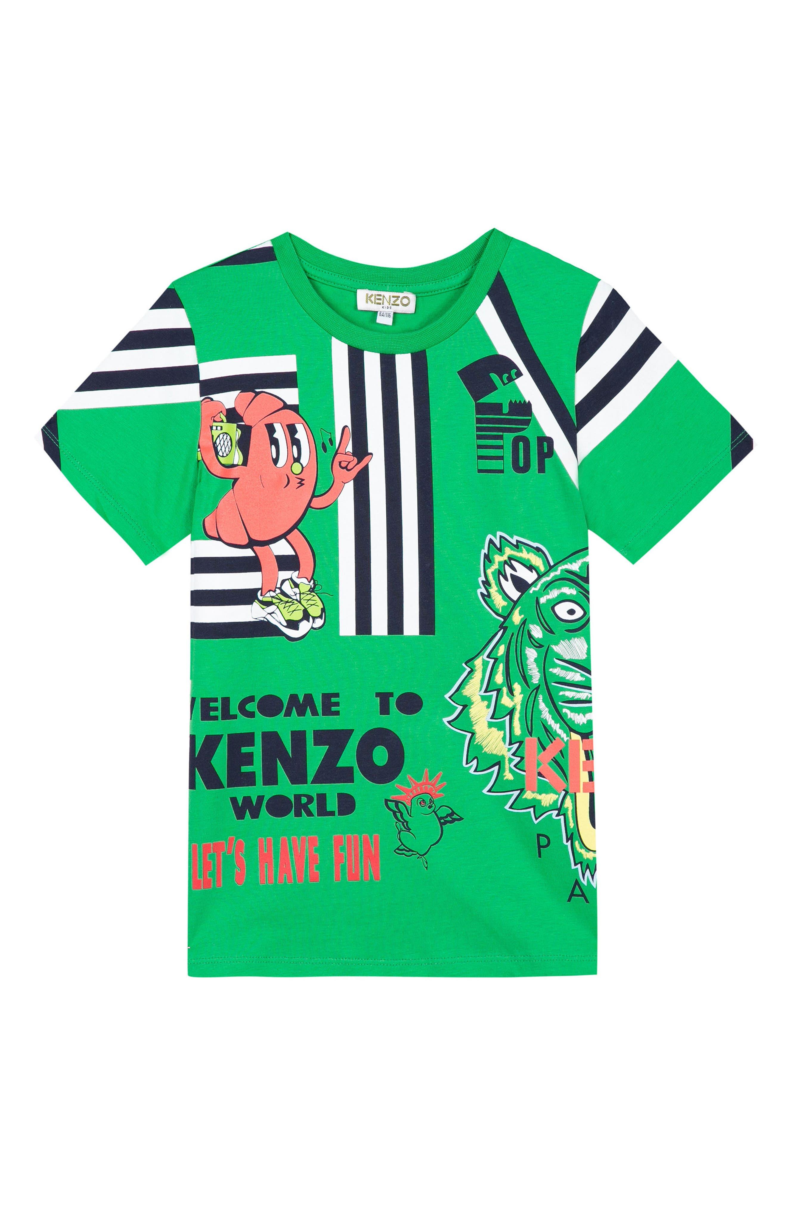 Ludic Logo Graphic T-Shirt,                             Main thumbnail 1, color,                             Green