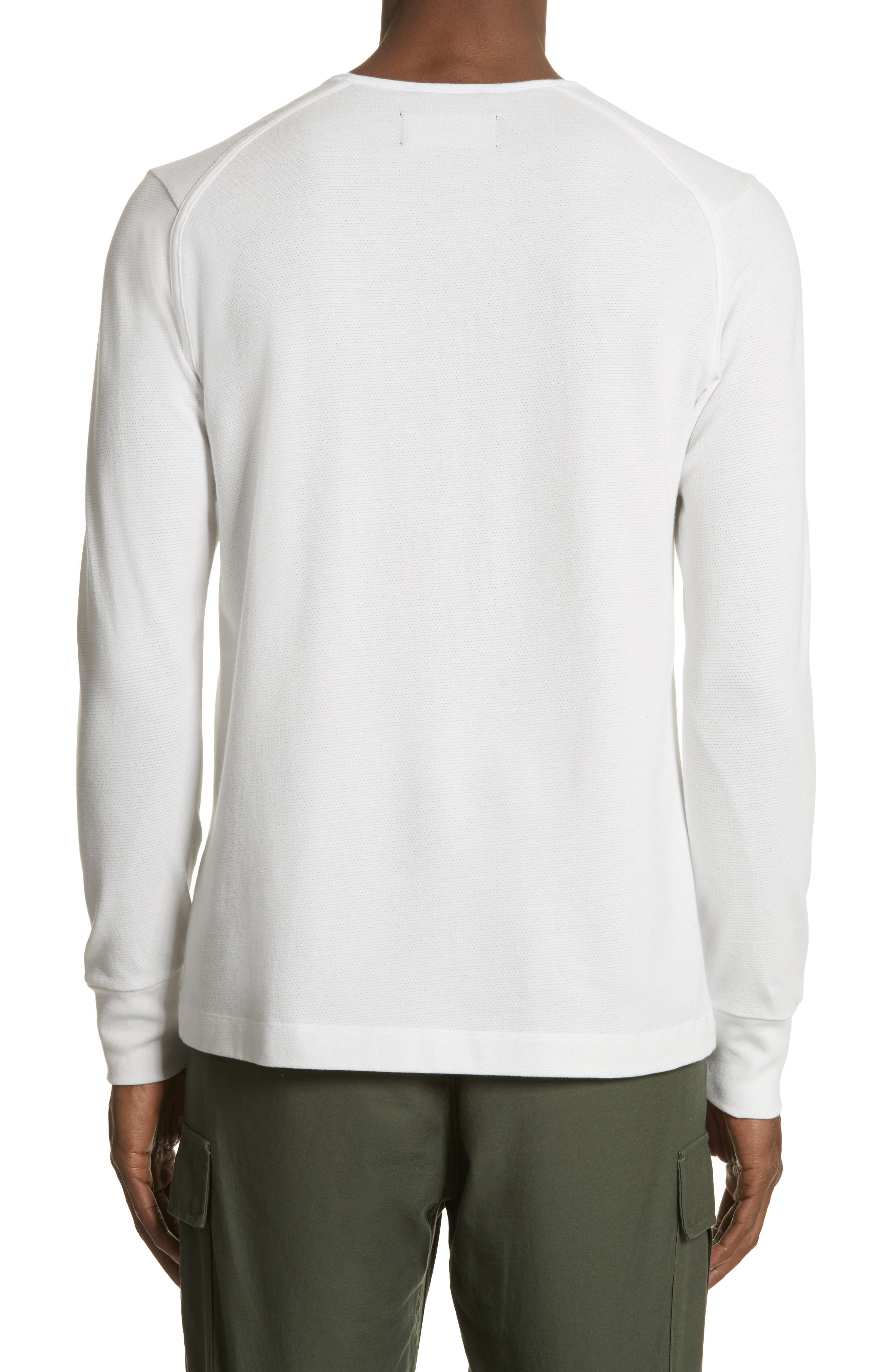 Mesh Jersey Henley,                             Alternate thumbnail 2, color,                             Salt